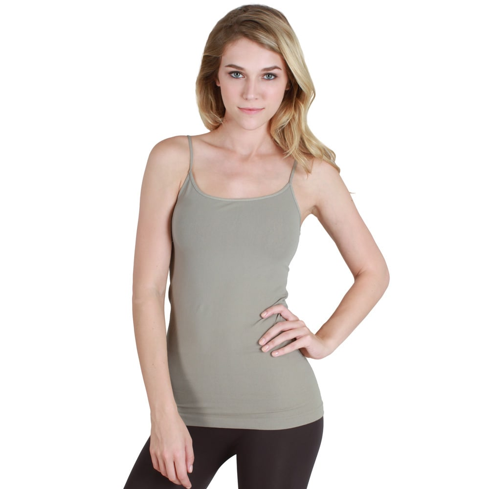 47e09986b0366f Shop Nikibiki Seamless Signature Long Camisole Top with Color Choices -  Free Shipping On Orders Over  45 - Overstock - 9787468