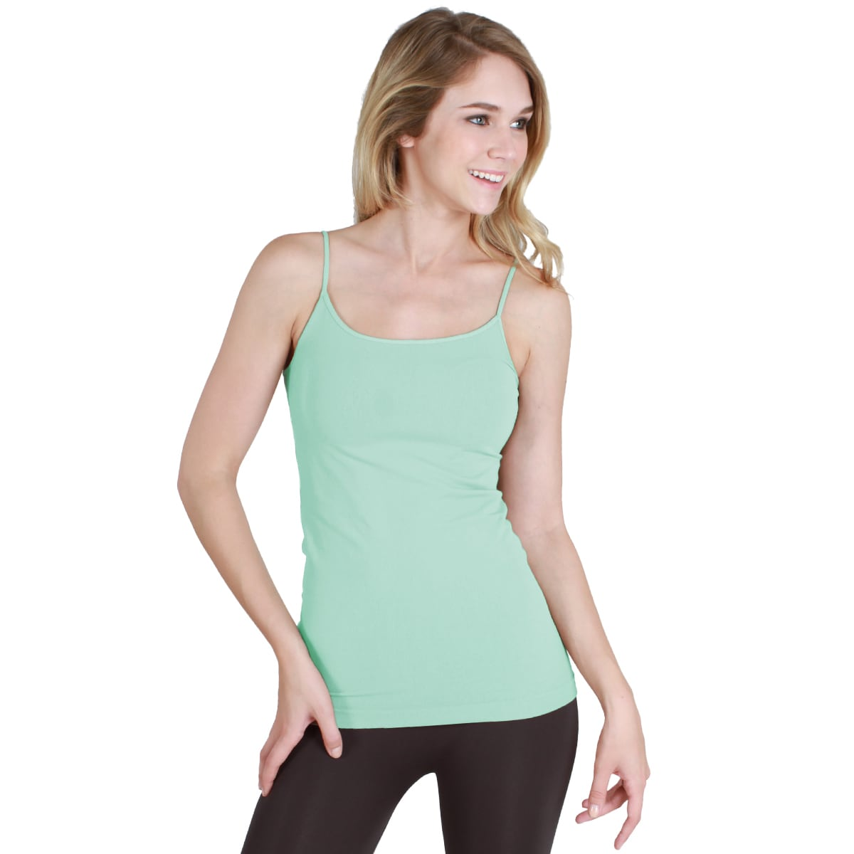 bac9dcced43a26 Shop Nikibiki Seamless Signature Long Camisole Top with Color Choices -  Free Shipping On Orders Over  45 - Overstock - 9787468