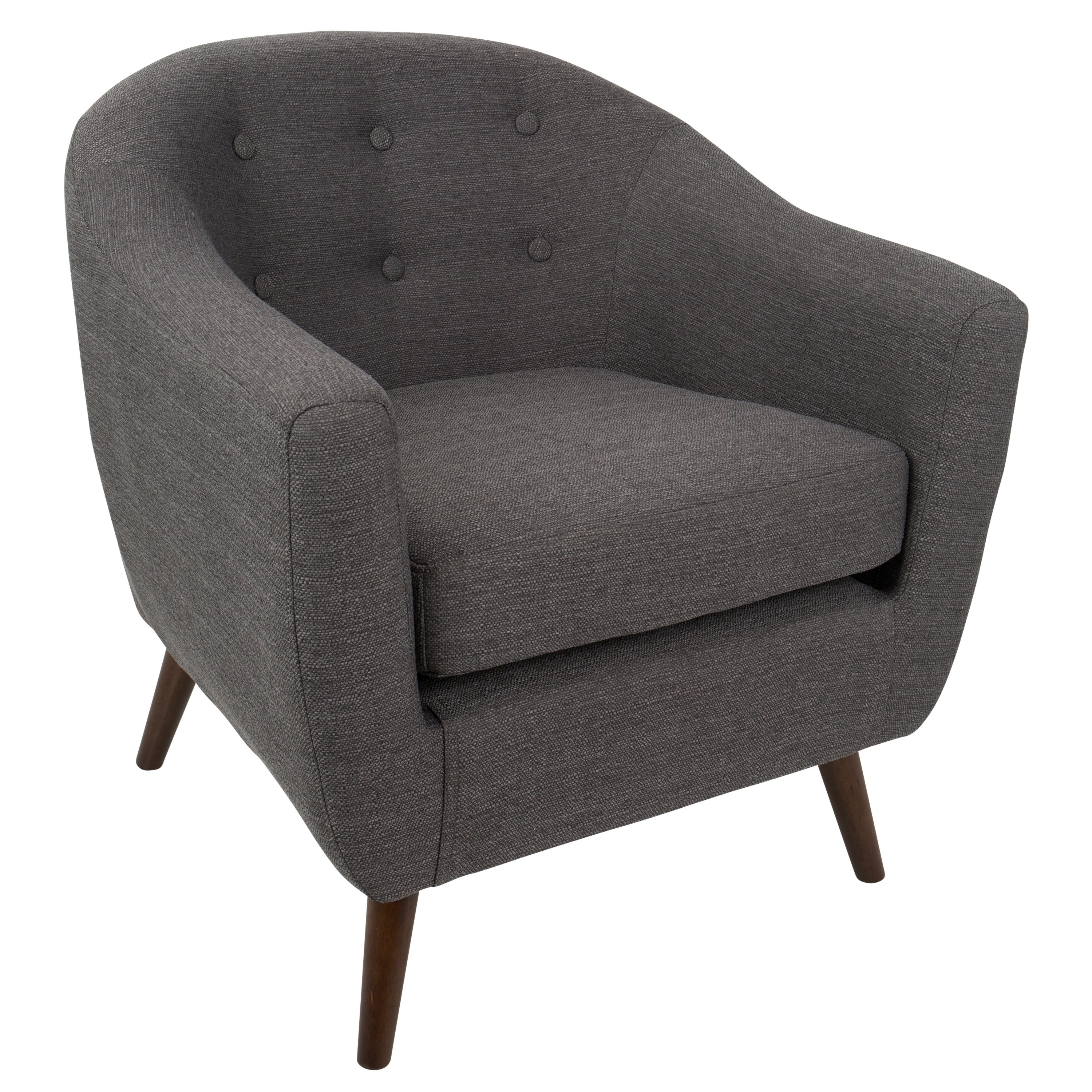 Strick & Bolton Shearing Mid Century Modern Accent Chair  Free