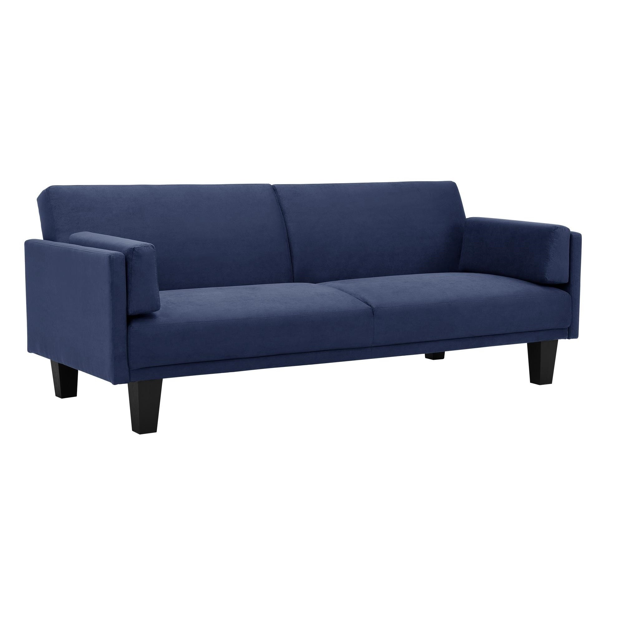 Dhp Metro Navy Blue Futon Sofa Bed Free Shipping Today Com 9787843