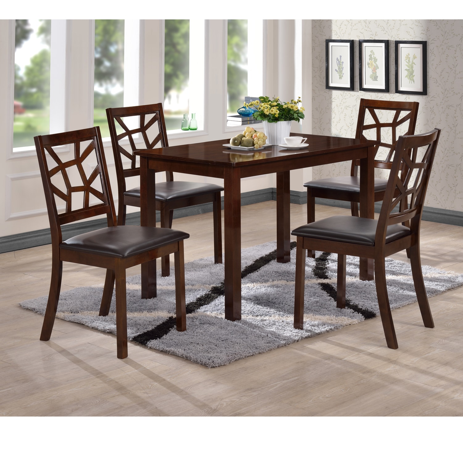 Contemporary Black Faux Leather Dining Chair 2 Piece Set By Baxton Studio On Free Shipping Today 9791468