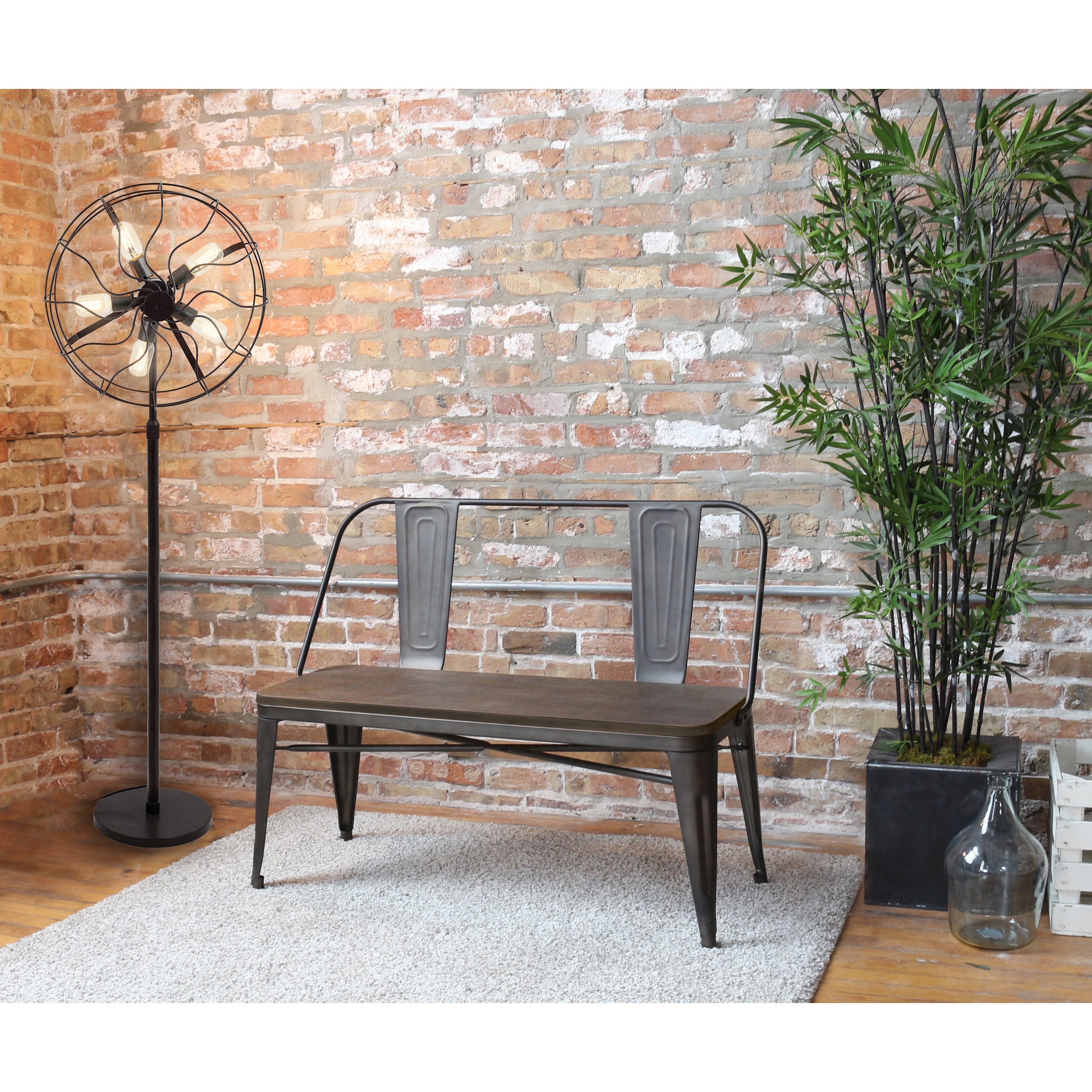 Superior Oregon Industrial Dining Bench   Free Shipping Today   Overstock   16960507