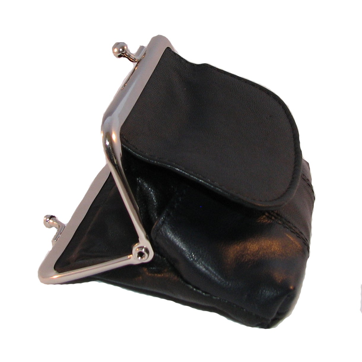 Continental Leather Metal Snap Kiss Lock Frame Coin Purse Free Shipping On Orders Over 45 9792960