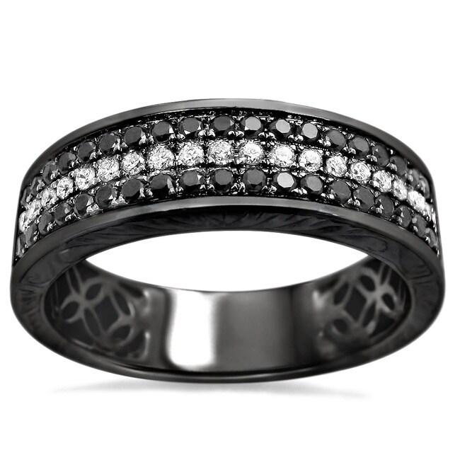 Shop Noori 14k Black Gold Mens 58ct Tdw Round Diamond Wedding Band