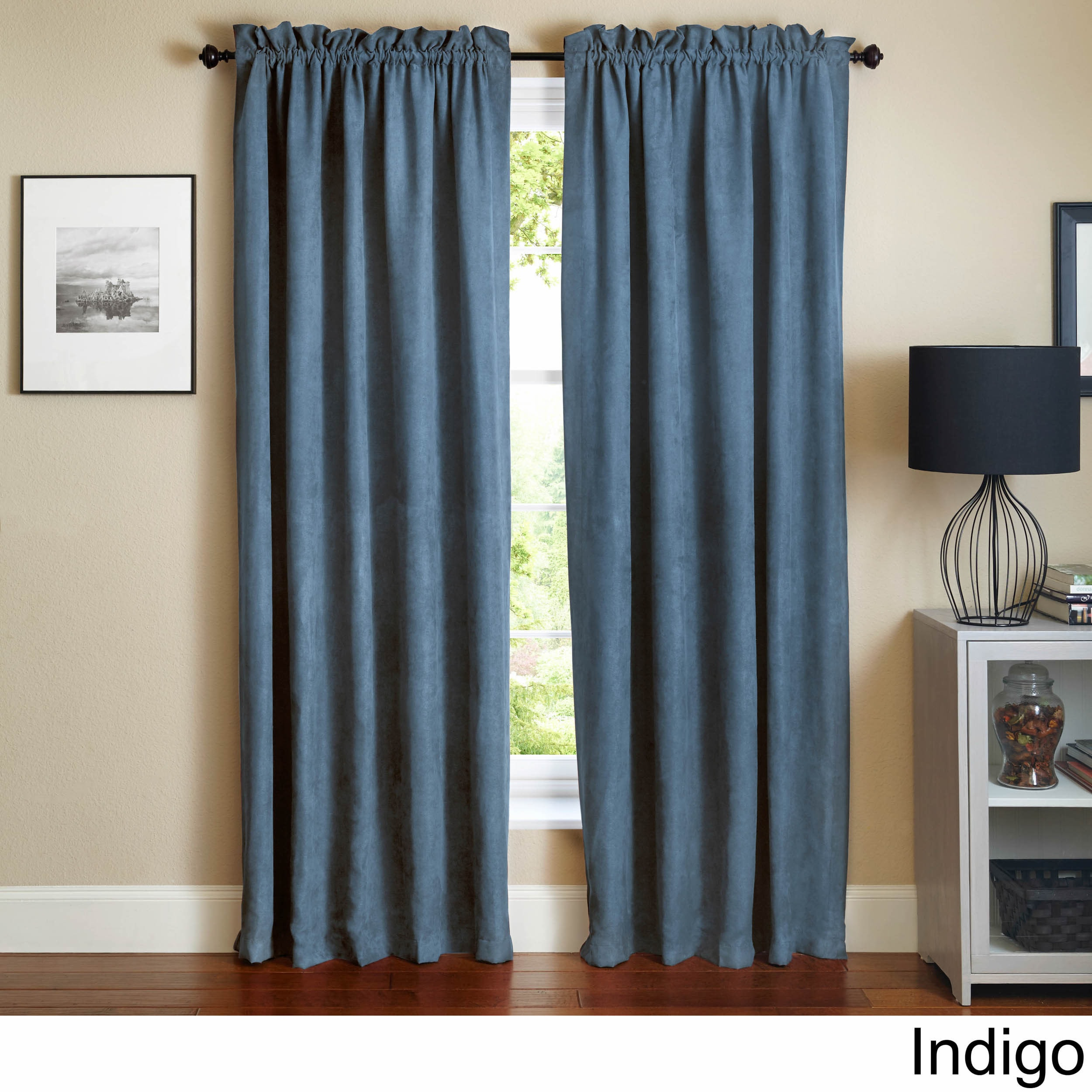 Blazing Needles 108 Inch Microsuede Blackout Curtain Panel Pair On Free Shipping Today 9793681