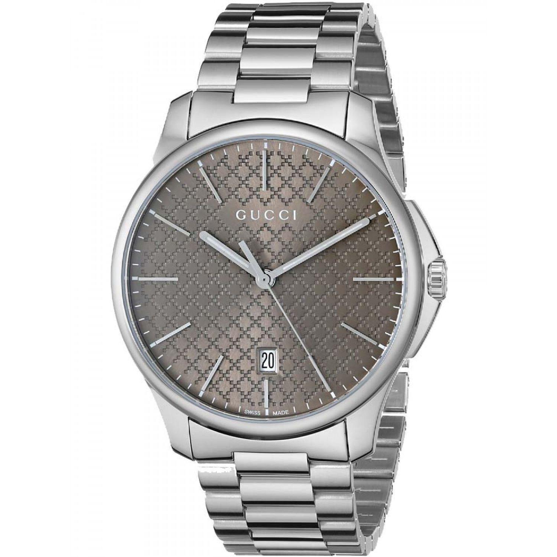 28ca325ba81 Shop Gucci Men s Quartz G-Timeless Brown Dial Stainless Steel Watch ...