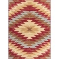 Well Woven Malibu Southwestern Kilim Red Multi Polypropylene Rug (8'2'' x 9'10)
