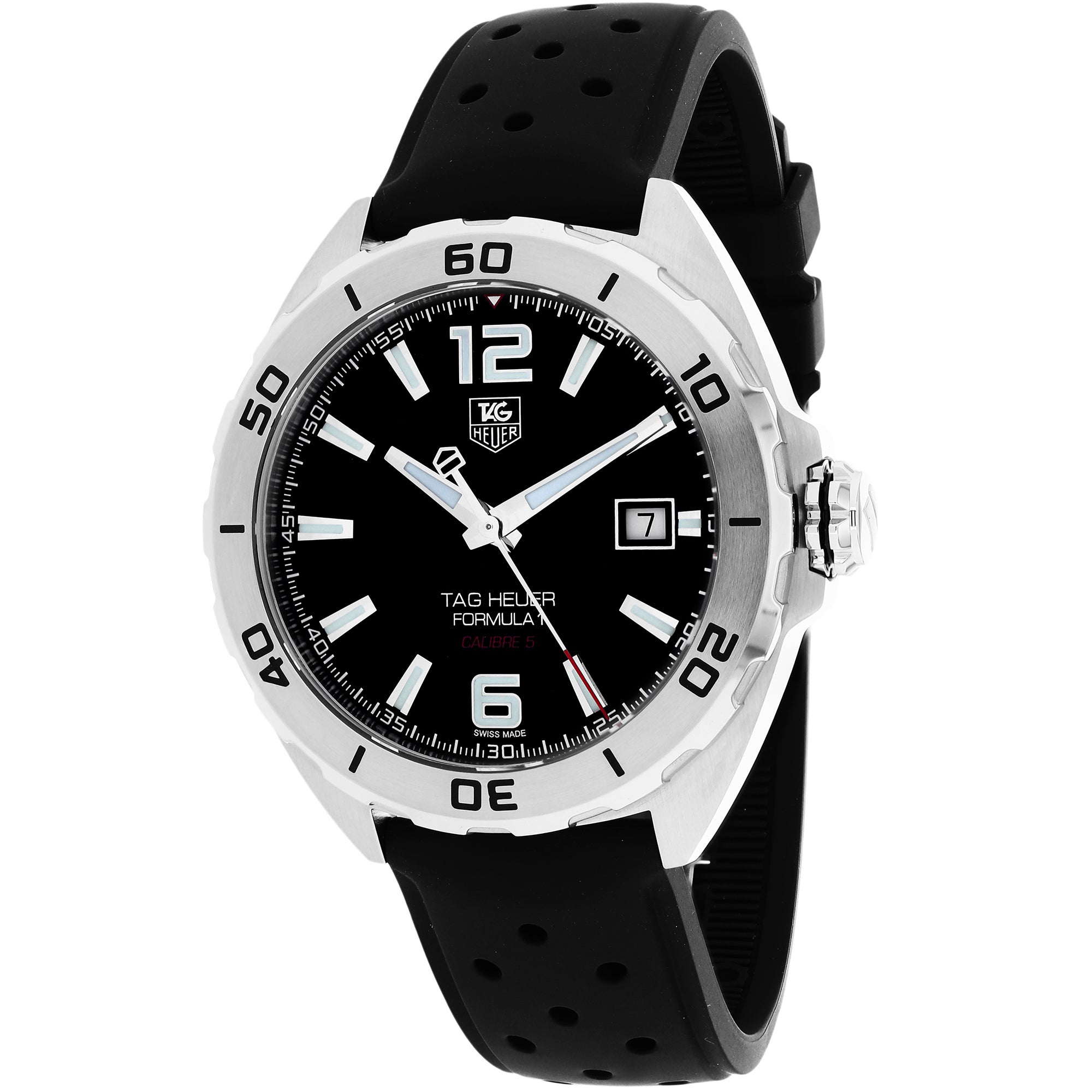e2f434df7afb Shop Tag Heuer Men s WAZ2113.FT8023  Formula 1  Black Dial Black Rubber  Strap Automatic Watch - Free Shipping Today - Overstock - 9809506