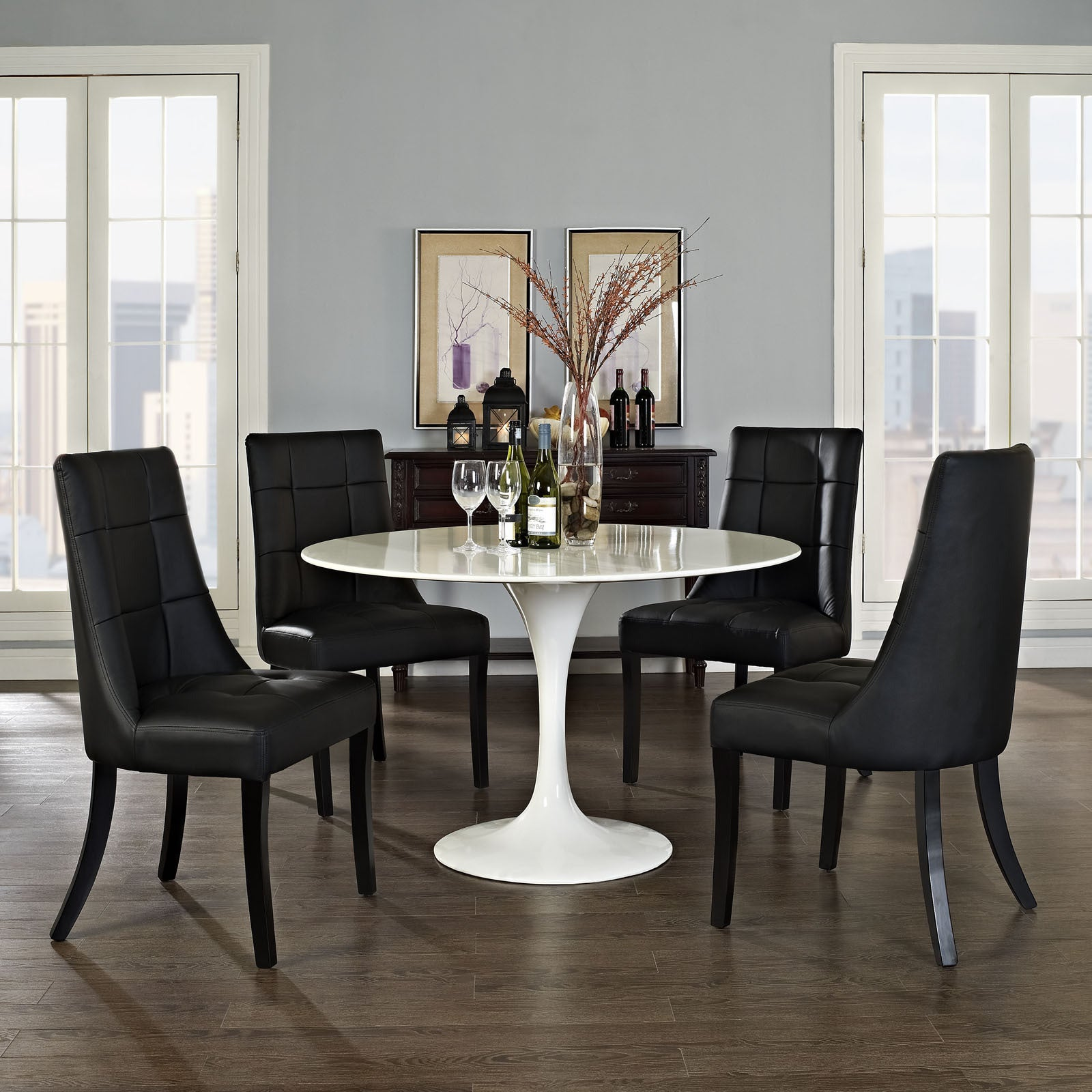 Noblesse Vinyl Dining Chair (Set Of 4)   Free Shipping Today   Overstock    16976012