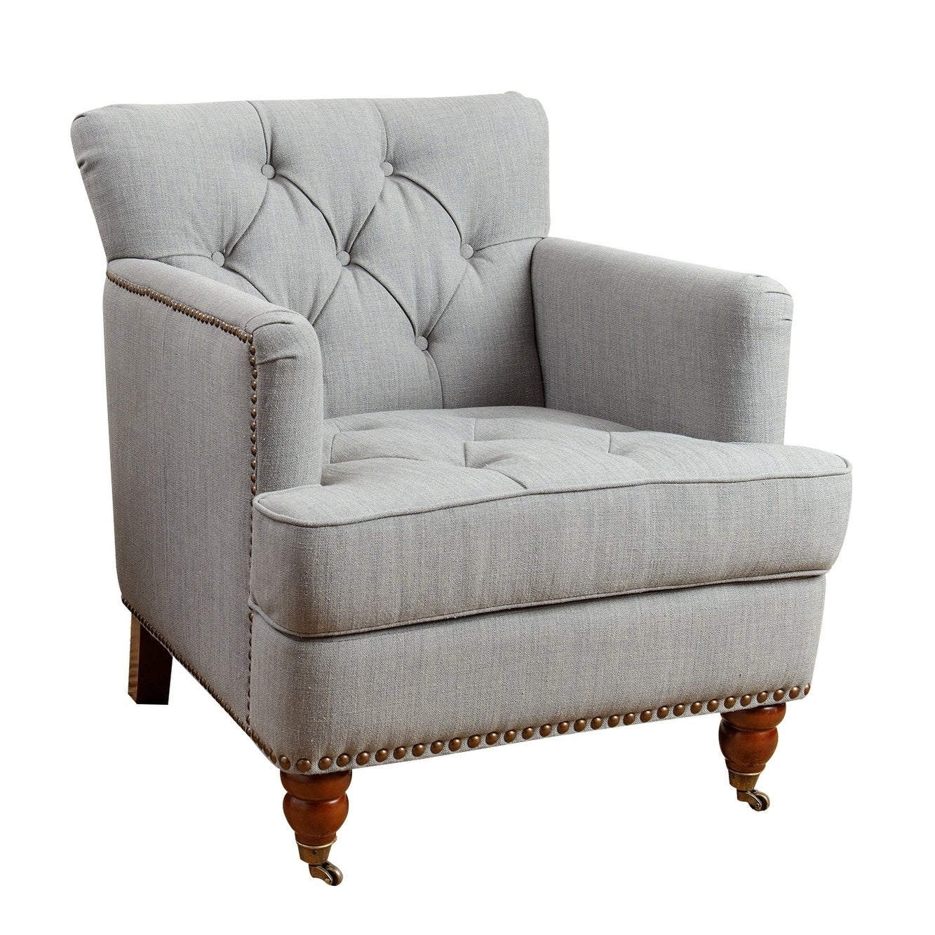 Superbe Shop Abbyson Tafton Green Grey Linen Armchair   On Sale   Free Shipping  Today   Overstock.com   9812389