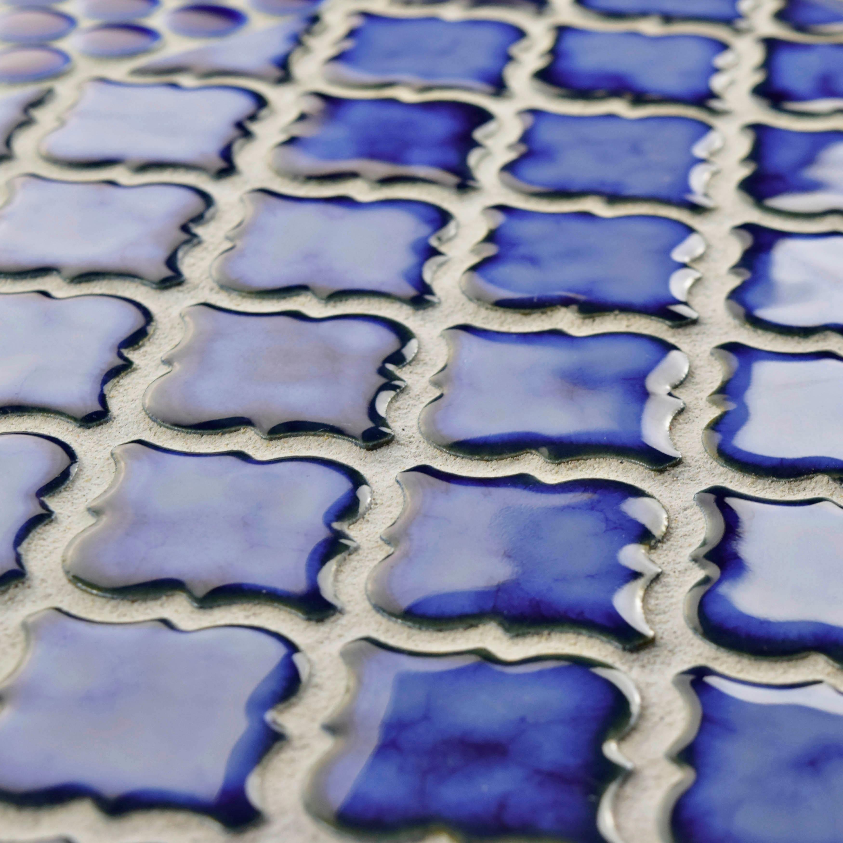SomerTile 12.375x12.5-inch Antaeus Sapphire Porcelain Mosaic Floor ...