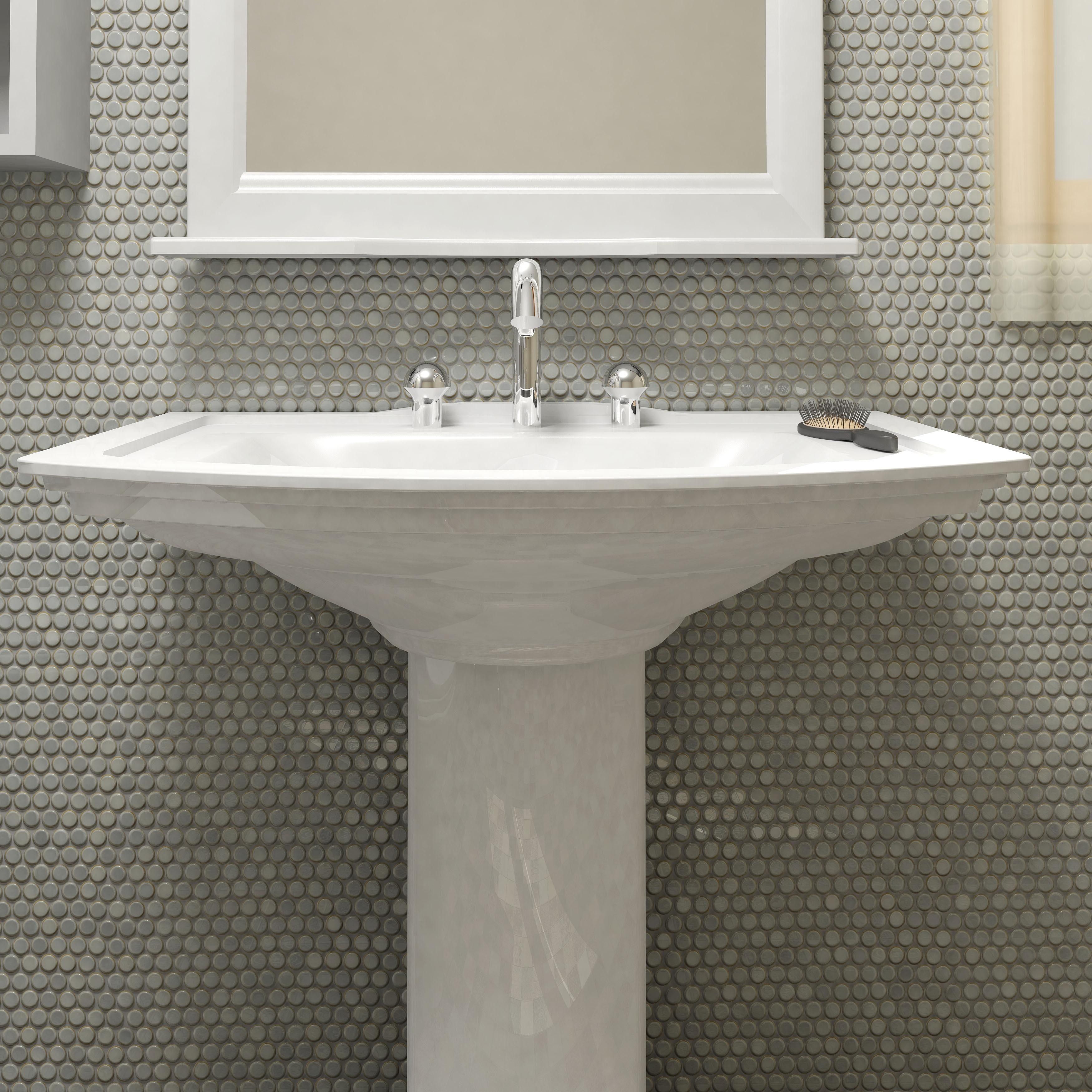 Shop Somertile 12x12625 Inch Penny Grey Eye Porcelain Mosaic Floor