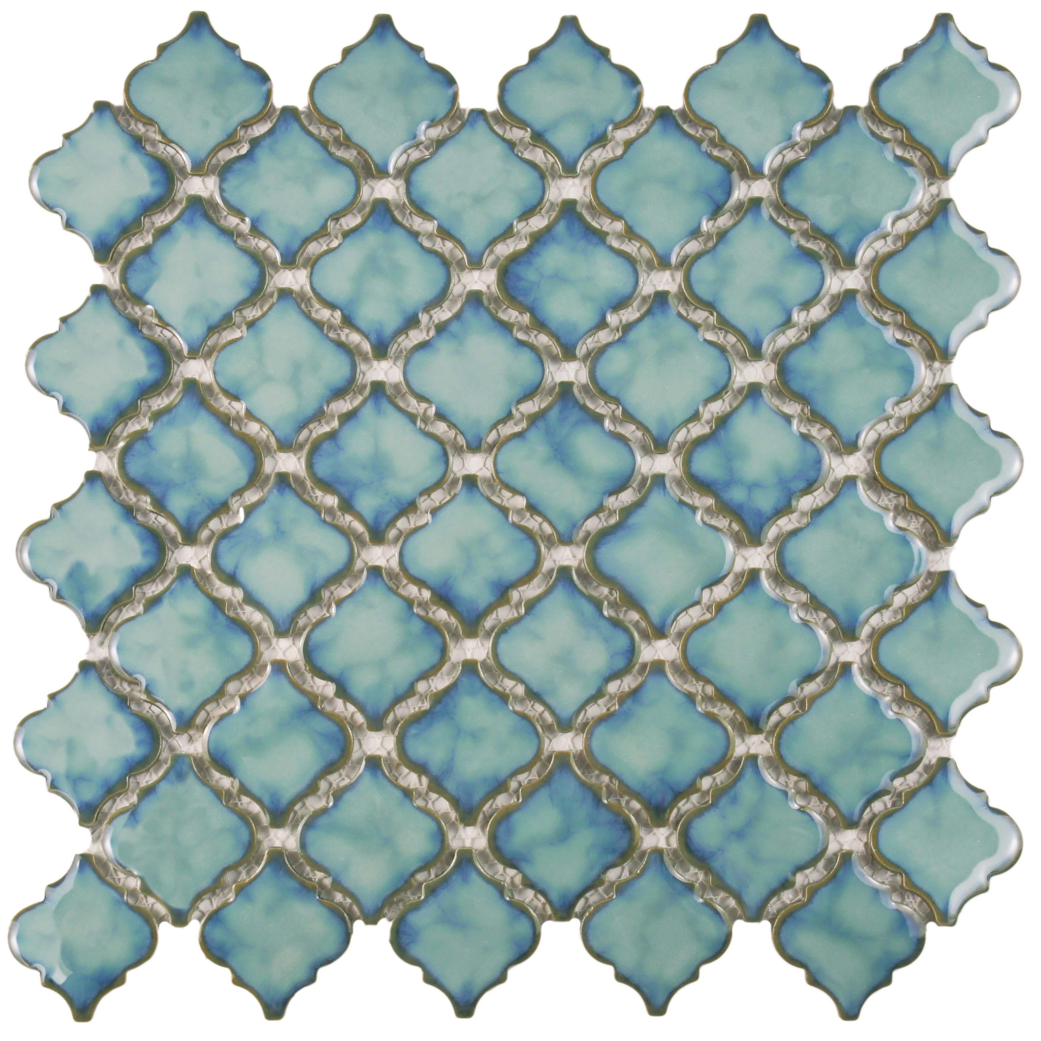 Shop SomerTile 12.375x12.5-inch Antaeus Marine Porcelain Mosaic ...