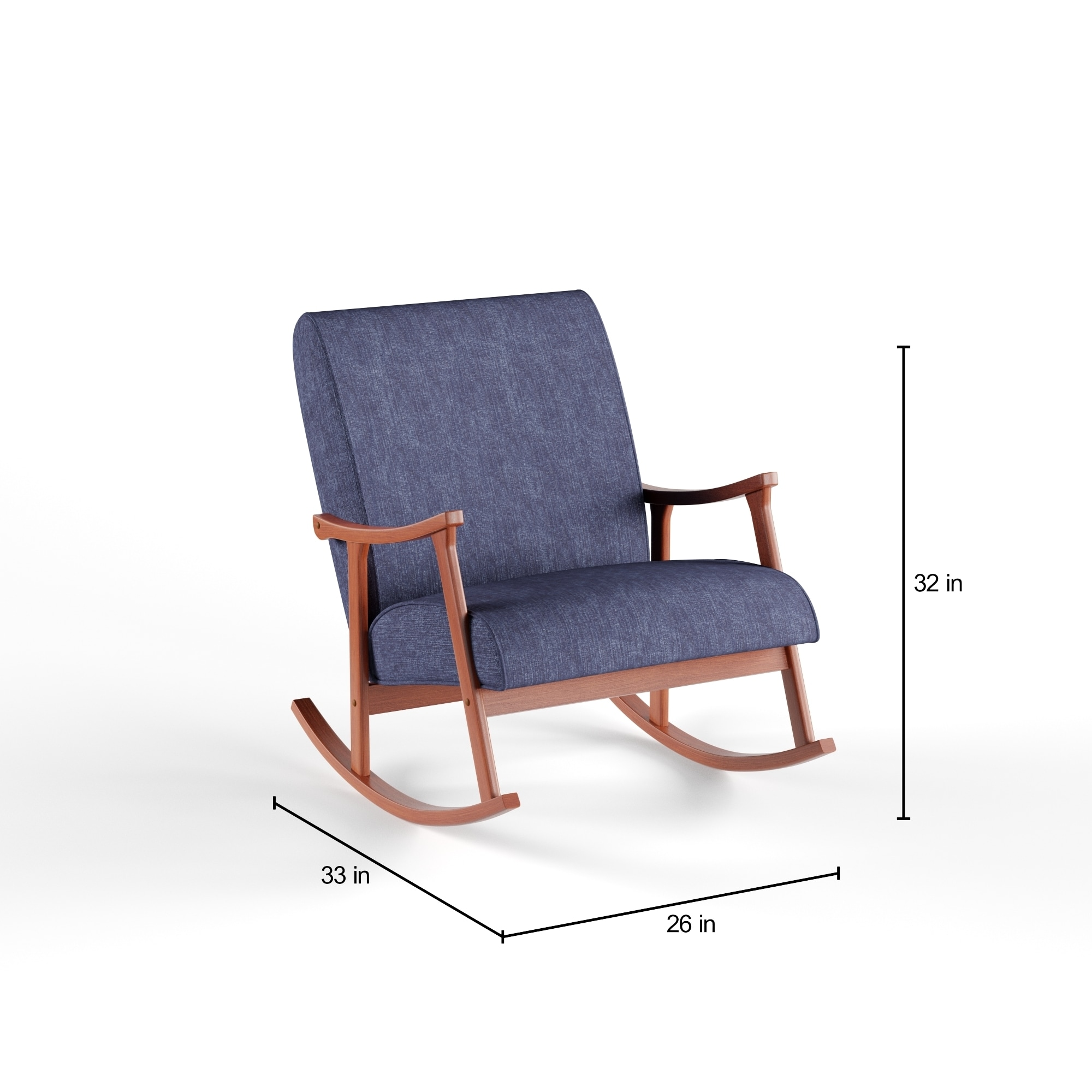wooden rocking chair. Carson Carrington Retro Indigo Wooden Rocking Chair - Free Shipping Today Overstock 16979532