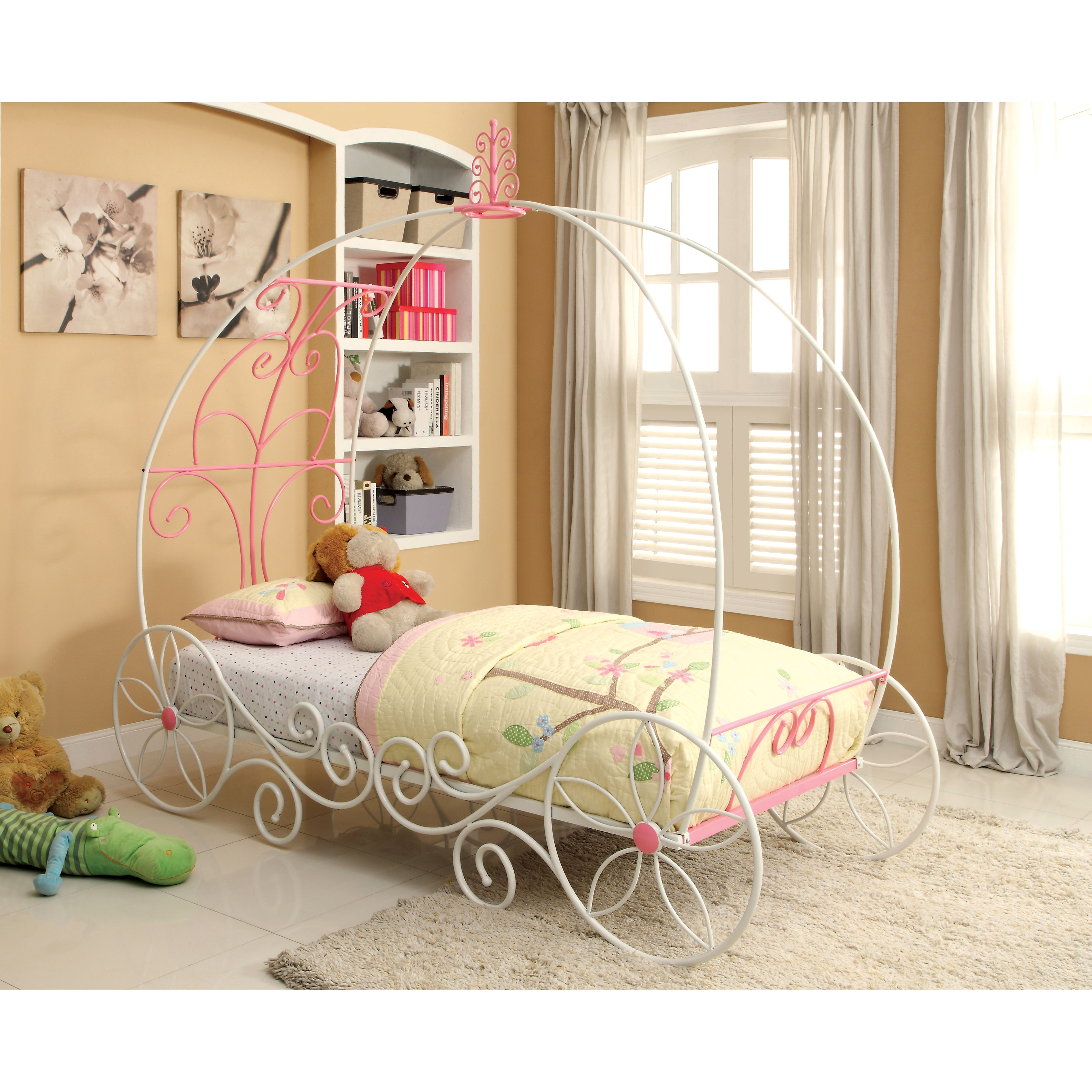 Furniture of America Princess Fantasy Carriage-inspired Metal Bed - Free  Shipping Today - Overstock.com - 16980242