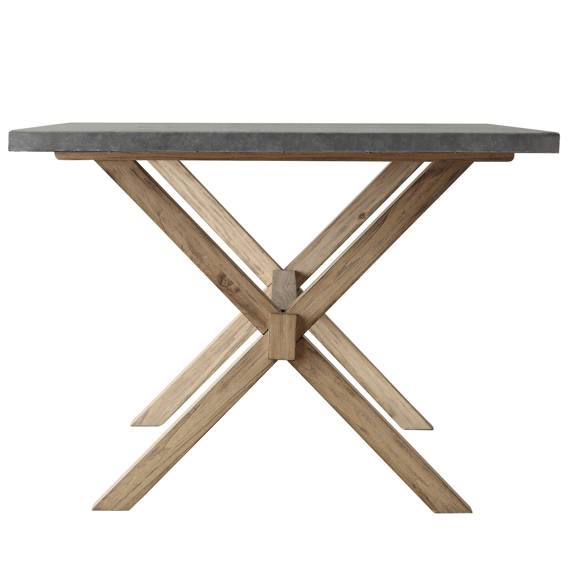 Shop Aberdeen Industrial Zinc Top Weathered Oak Trestle Dining Table By  INSPIRE Q Artisan   On Sale   Free Shipping Today   Overstock.com   9814768
