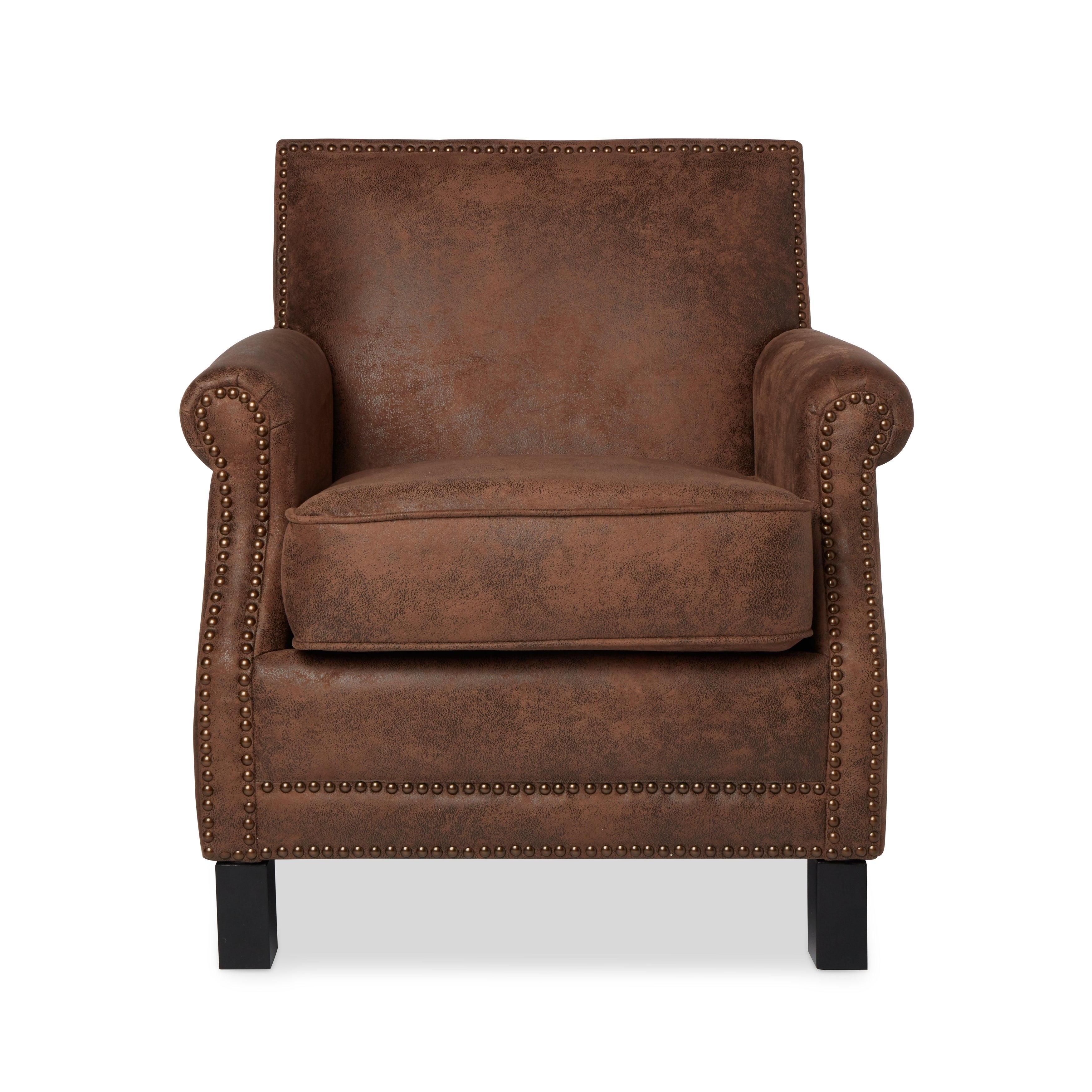Abbyson Chloe Antique Brown Fabric Club Chair   Free Shipping Today    Overstock   16980818