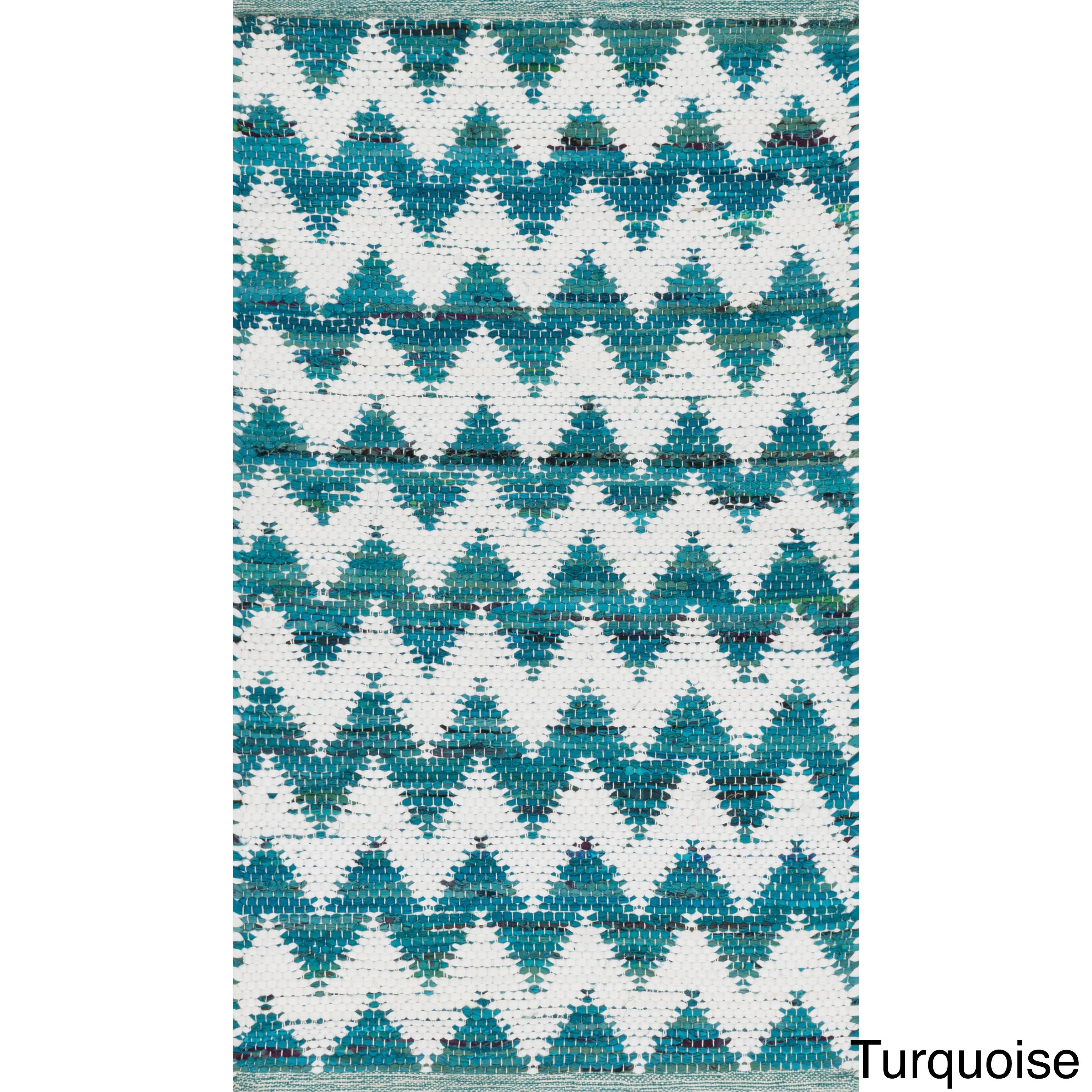 Hand-woven Becca Chevron Cotton Rug (2\'3 x 3\'9) - Free Shipping On ...