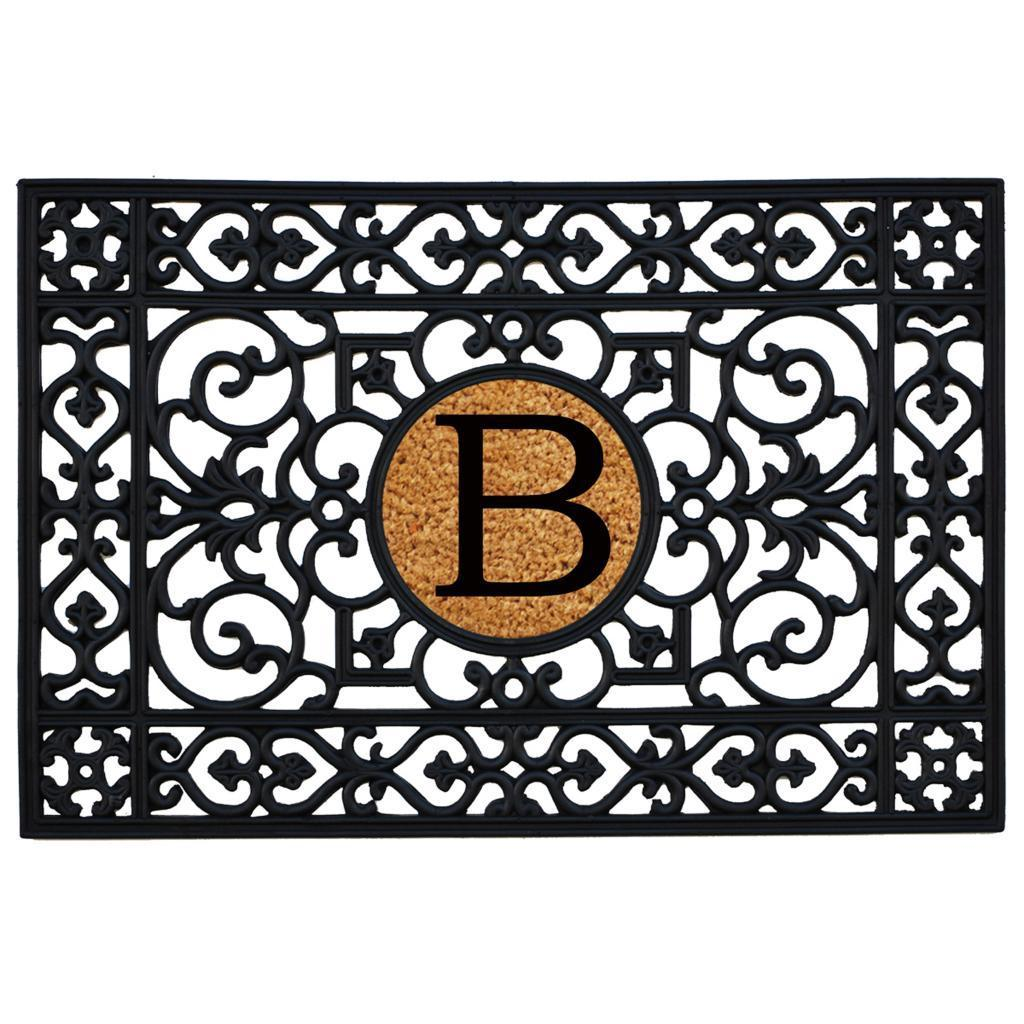 Decorating monogrammed door mats photos : Rubber with Monogrammed Insert Doormat 2' x 3' - Free Shipping On ...