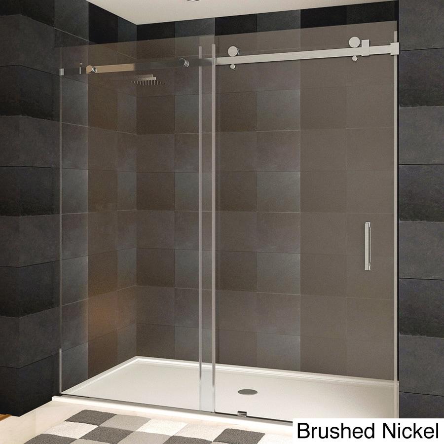 Shop Lesscare Ultra B Semi Frameless Sliding Shower Doors Free