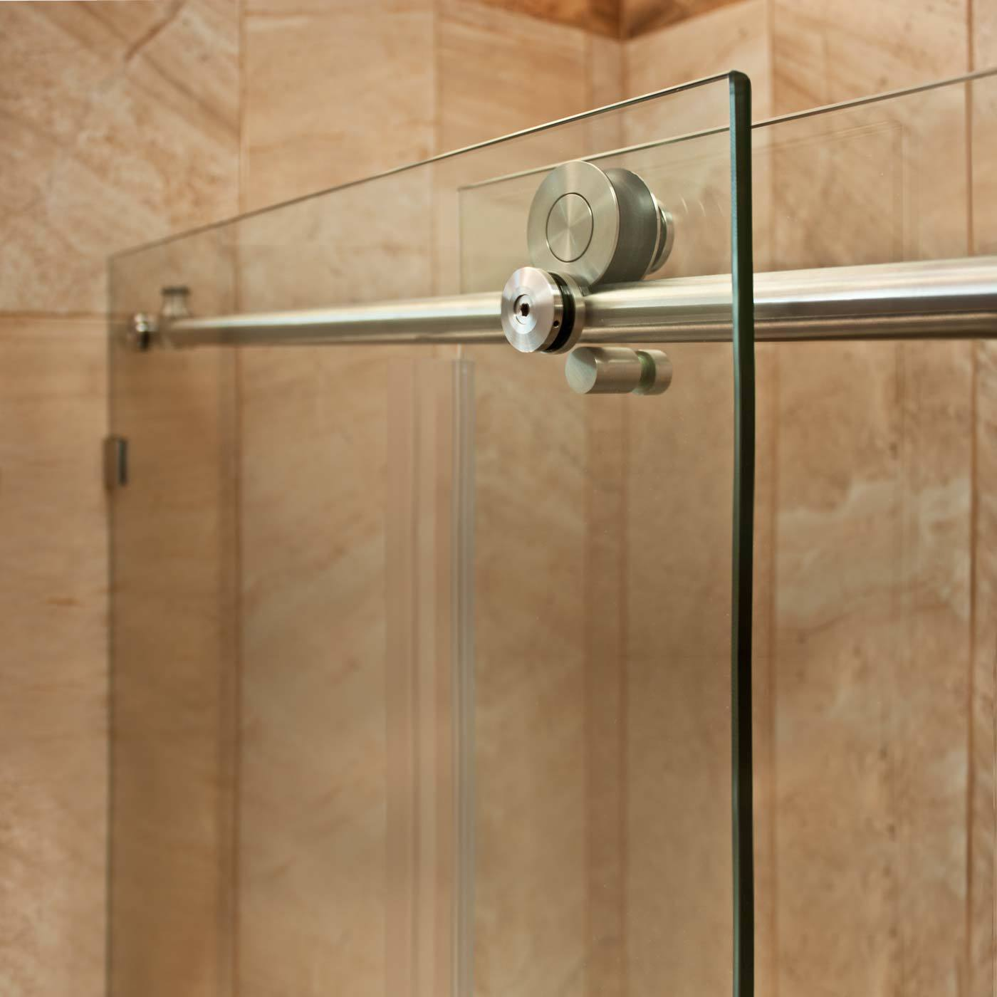 Shop LessCare 48 or 60 x 76 x 34.5-inch Frameless Chrome/ Brushed ...