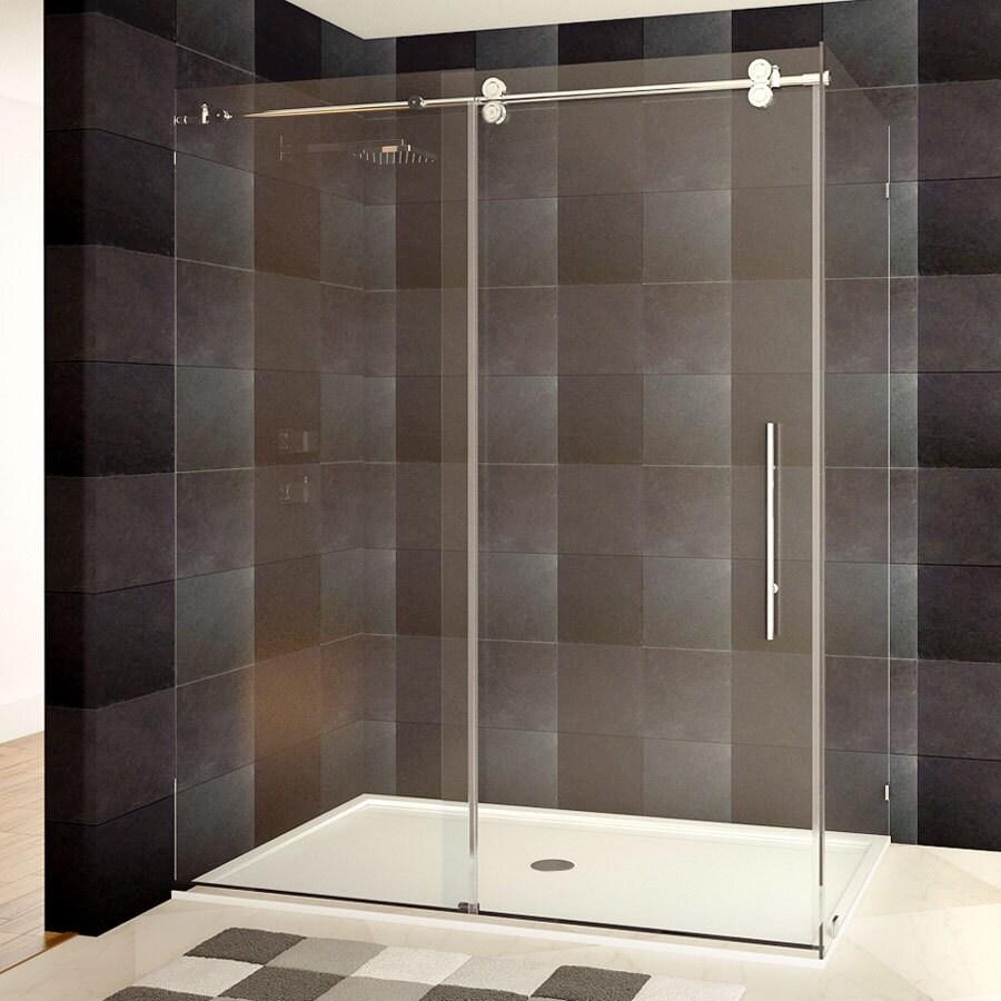 Shop Frameless Shower Enclosure 44-48 or 56-60W x 79H x 36D Chrome ...