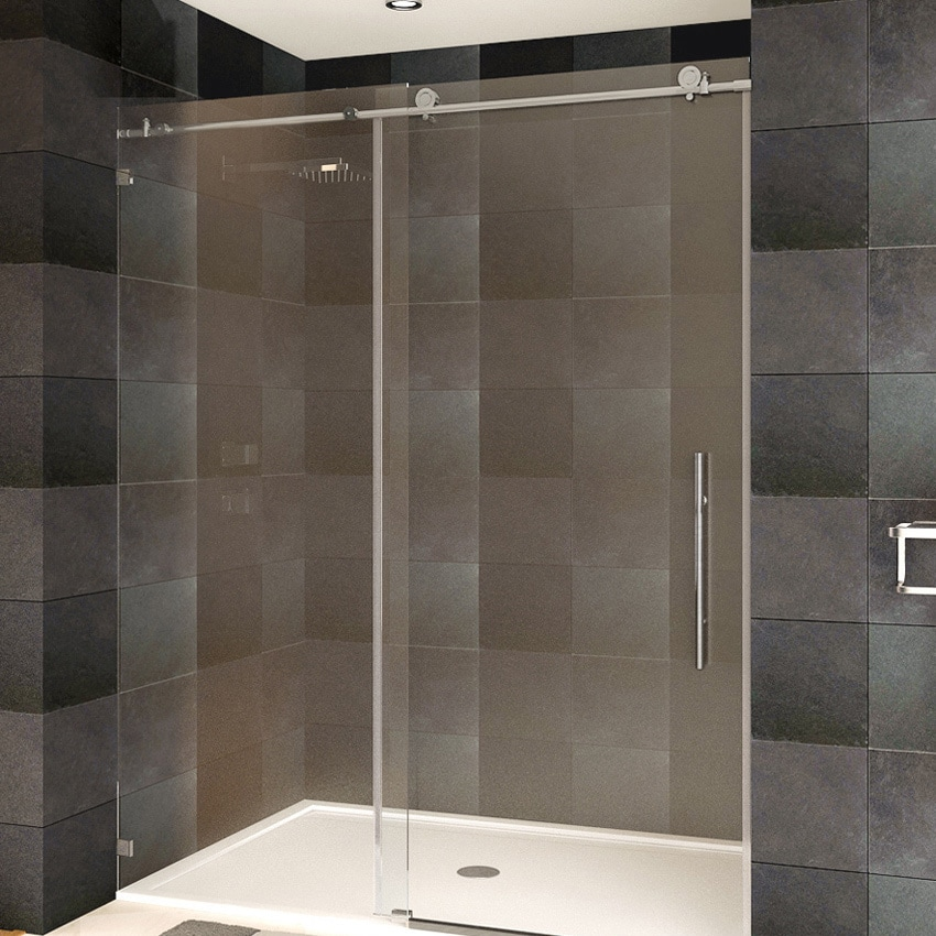 Frameless Shower Doors.Lesscare Tempered Glass Frameless Shower Door