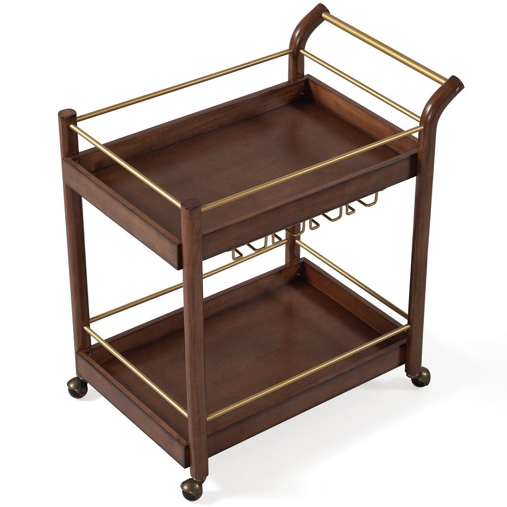 Shop Jasper Laine I Love Living Wood Bar Cart - On Sale - Free ...