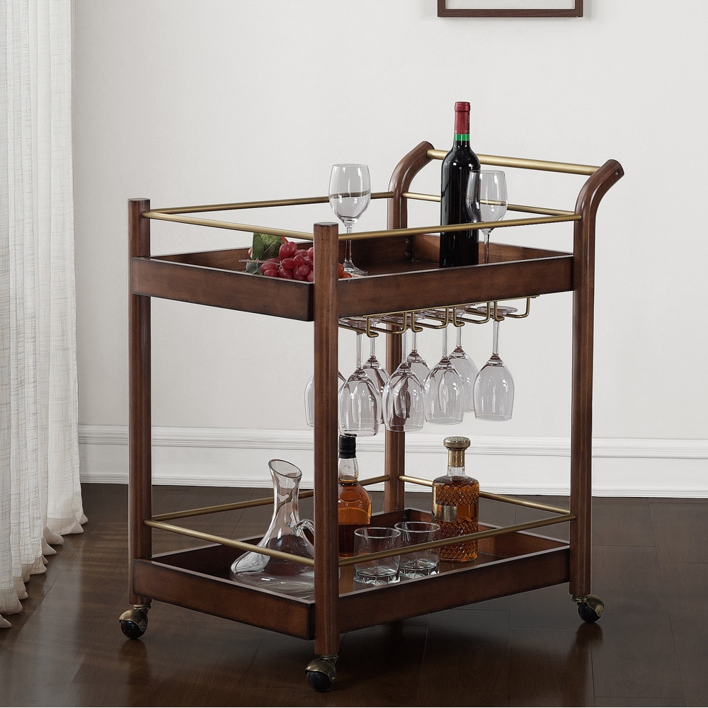 Best Jasper Laine I Love Living Wood Bar Cart - Free Shipping Today  RX26