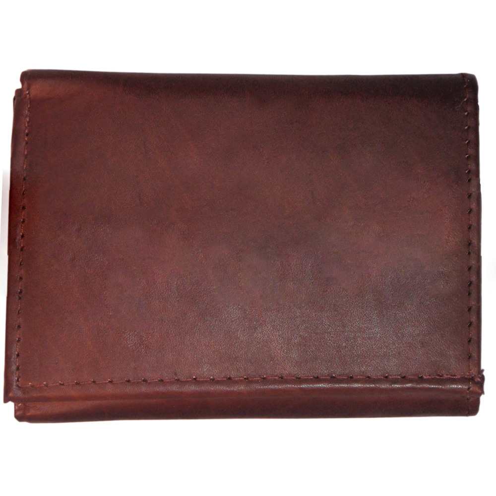 c0a26b5dfb0c9 Shop Men s Classic Black Brown Tan Genuine Leather Trifold Wallet ...