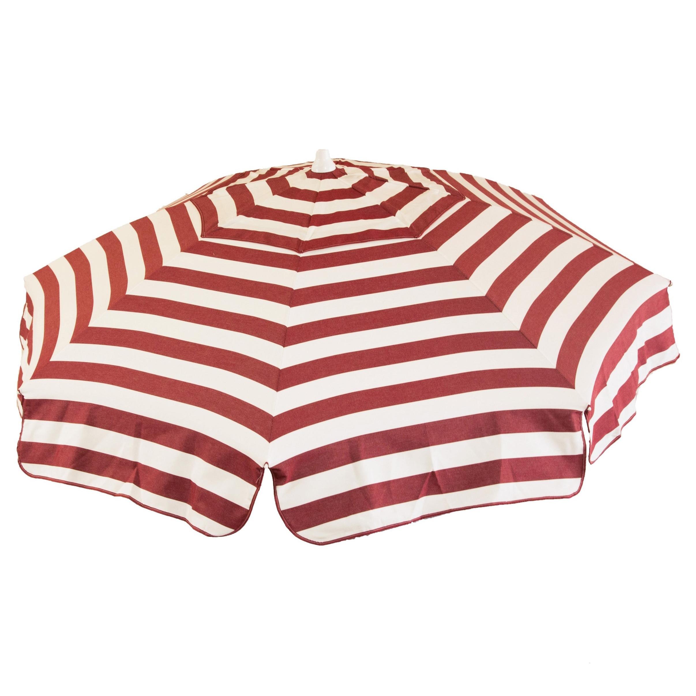 Italian Bistro 6 Foot Acrylic Striped Patio Umbrella   Free Shipping Today    Overstock.com   16983557