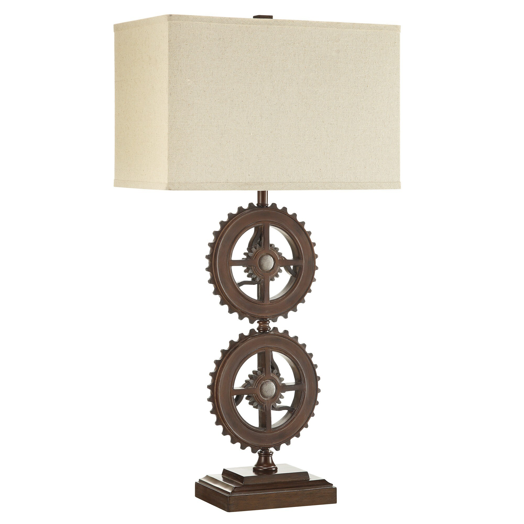 Barnard Antique Bronze Metal Gears 1-light Accent Table Lamp by iNSPIRE Q  Artisan - Free Shipping Today - Overstock.com - 16984258