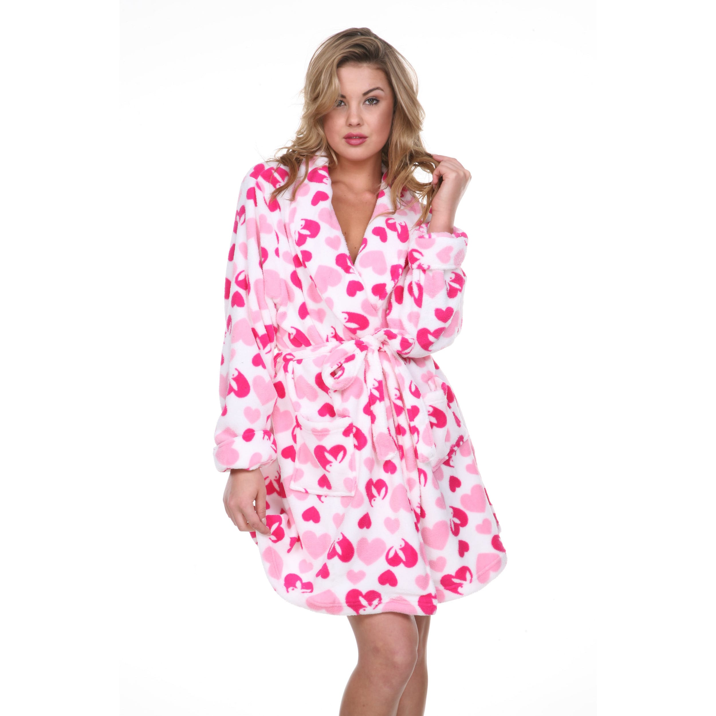 Shop Playboy Women s Printed Plush Spa Robe - Free Shipping On Orders Over   45 - Overstock - 9820934 771ab1088