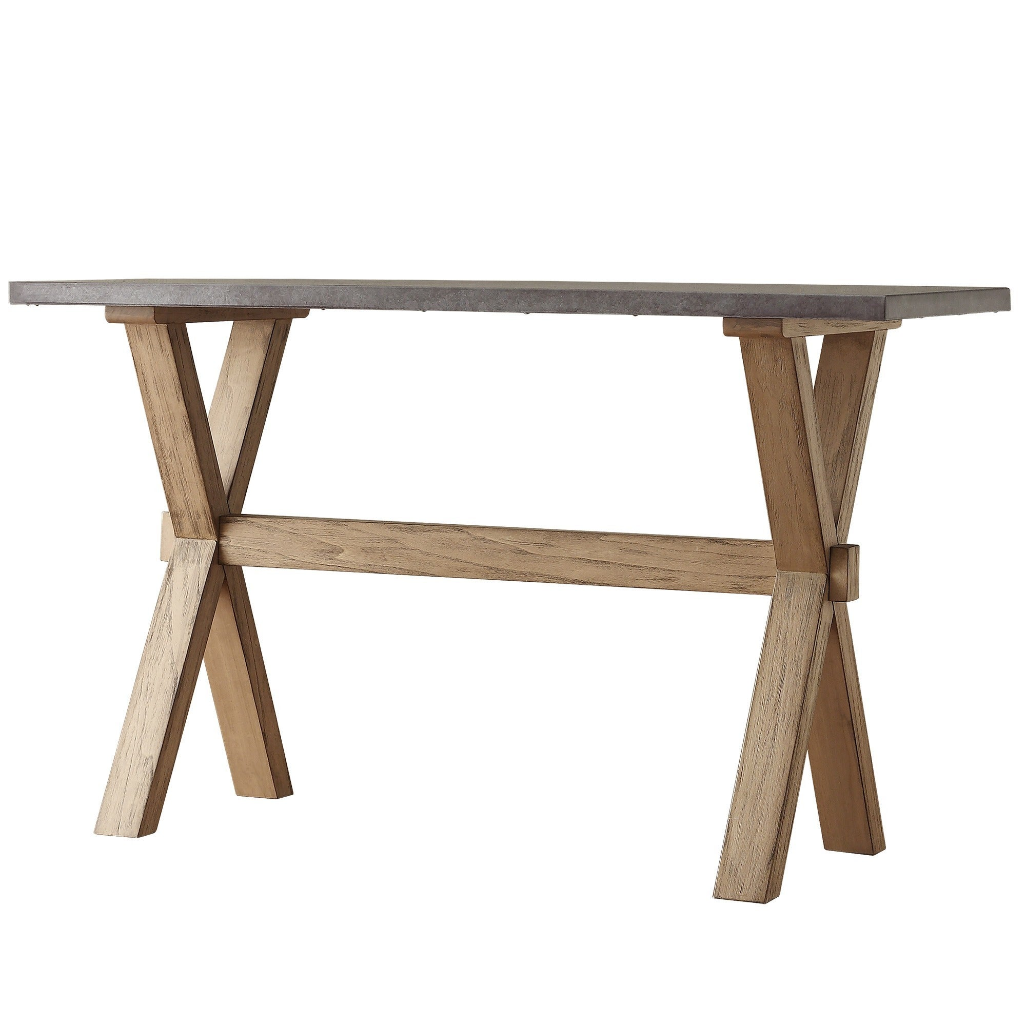 Aberdeen Industrial Zinc Top Weathered Oak Trestle TV Stand by iNSPIRE Q  Artisan - Free Shipping Today - Overstock.com - 16985922