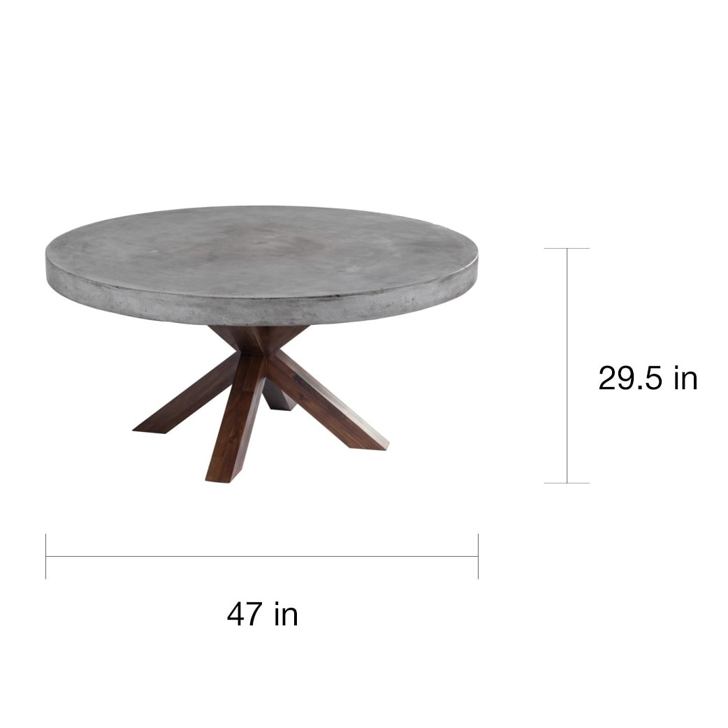 Sunpan Mixt Warwick Round Dining Table On Free Shipping Today 9821263