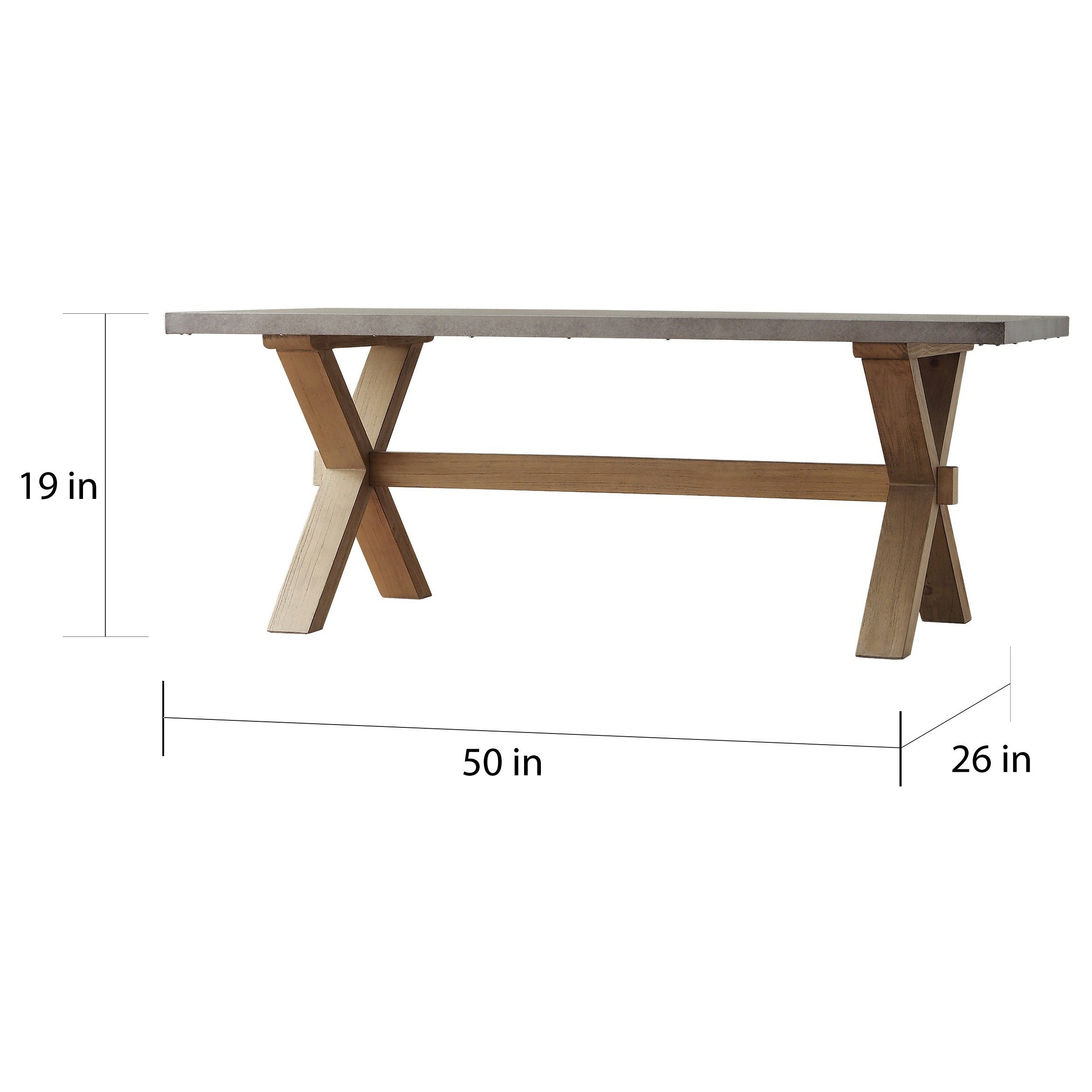 Aberdeen Industrial Zinc Top Weathered Oak Trestle Coffee Table by