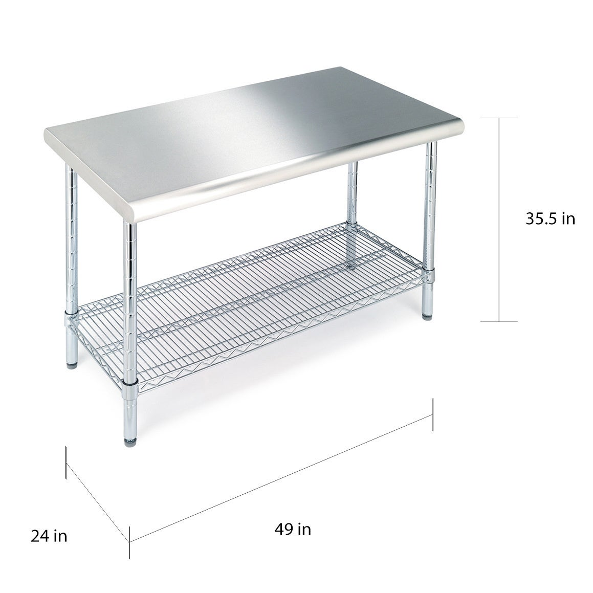 Shop Seville Classics Stainless Steel Work Table   Free Shipping Today    Overstock.com   9821410