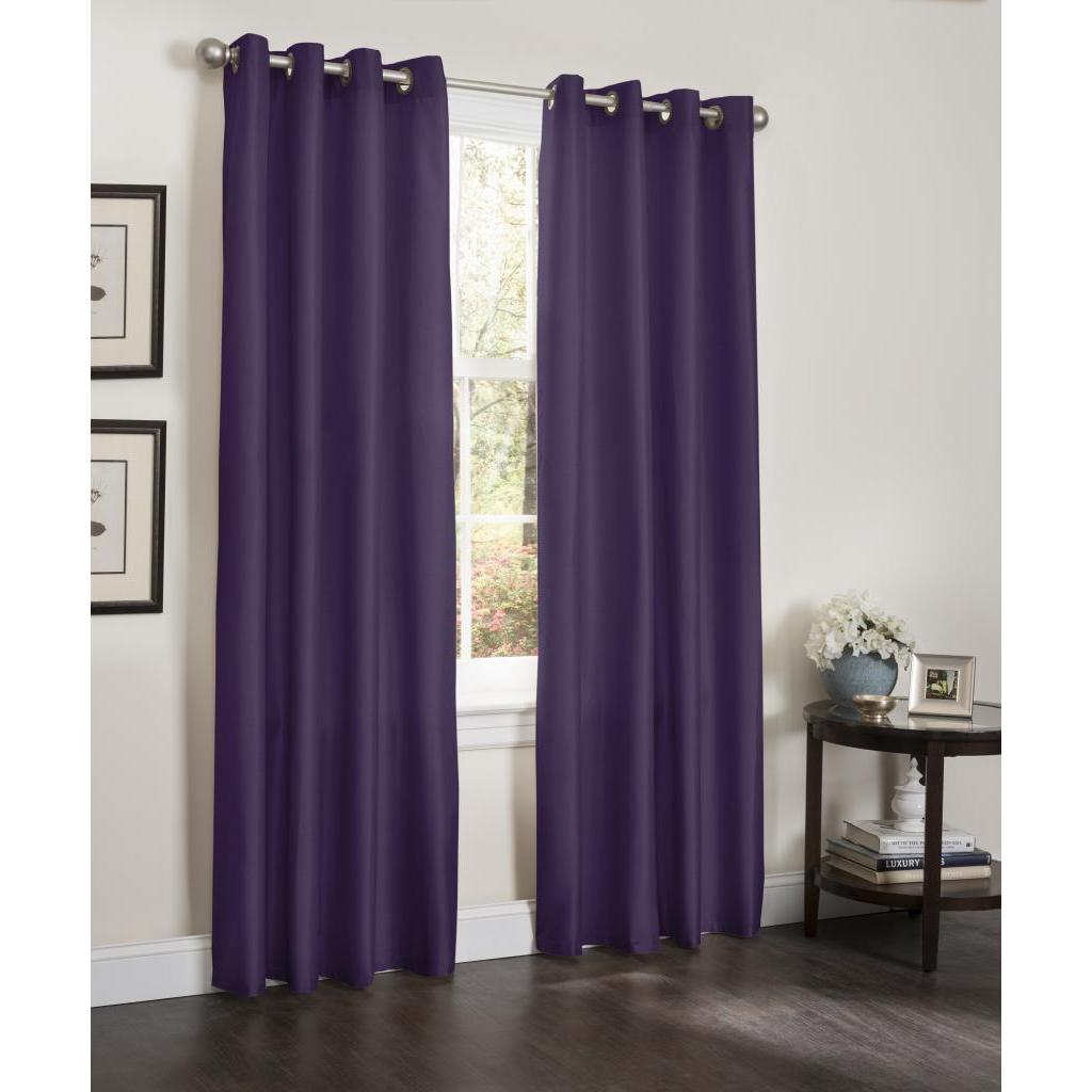 Shop Erin Faux Silk Insulated Blackout 90 Inch Curtain Panel Pair