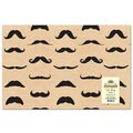 Tan Mustache Wrapping Paper