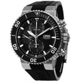 Oris Men's 774 7655 4154 RS 'Aquis' Black Dial Black Rubber Strap Automatic Chronograph Watch