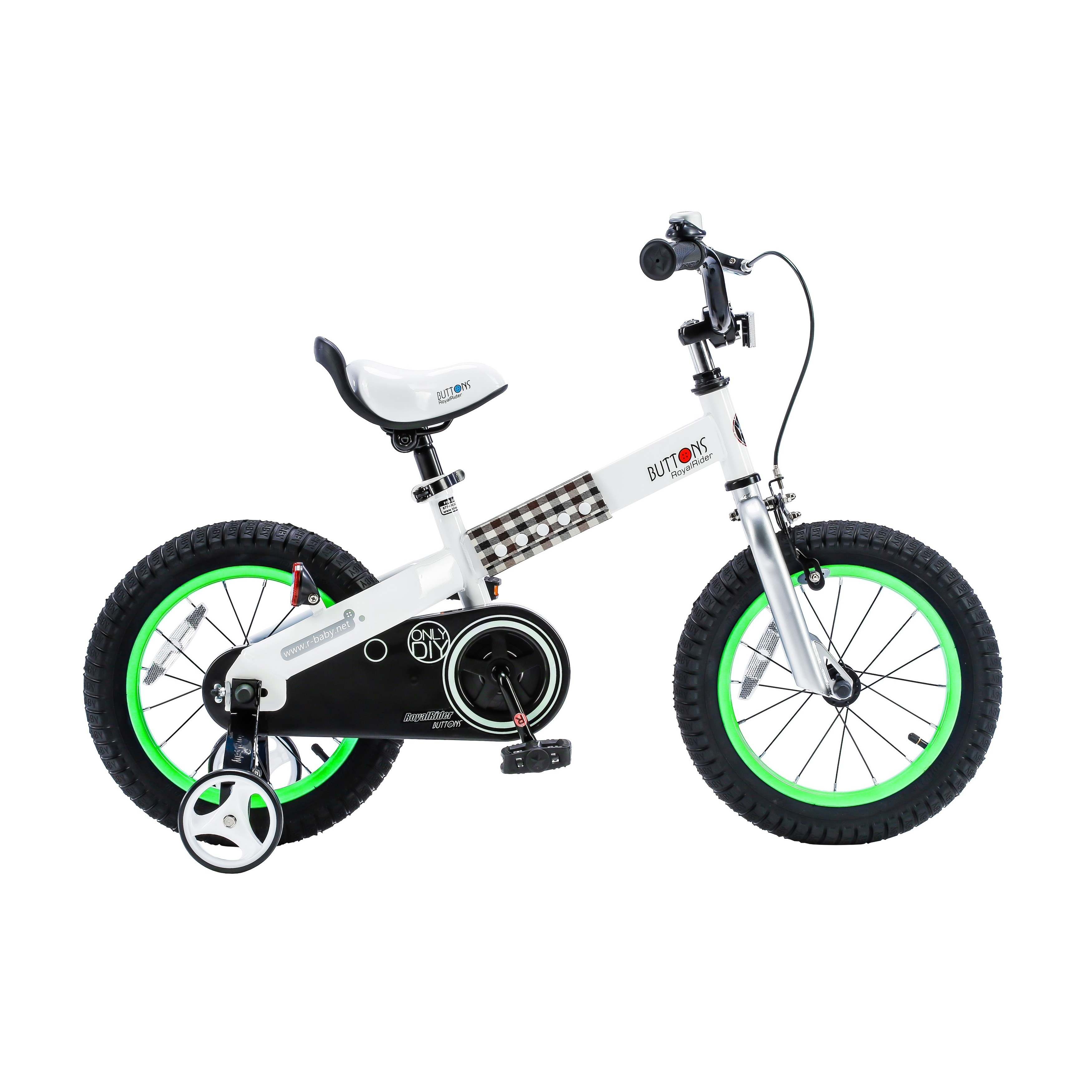 b5a84c44556e Shop Royalbaby Buttons 14-inch Kids' Bike with Training Wheels - 14 ...