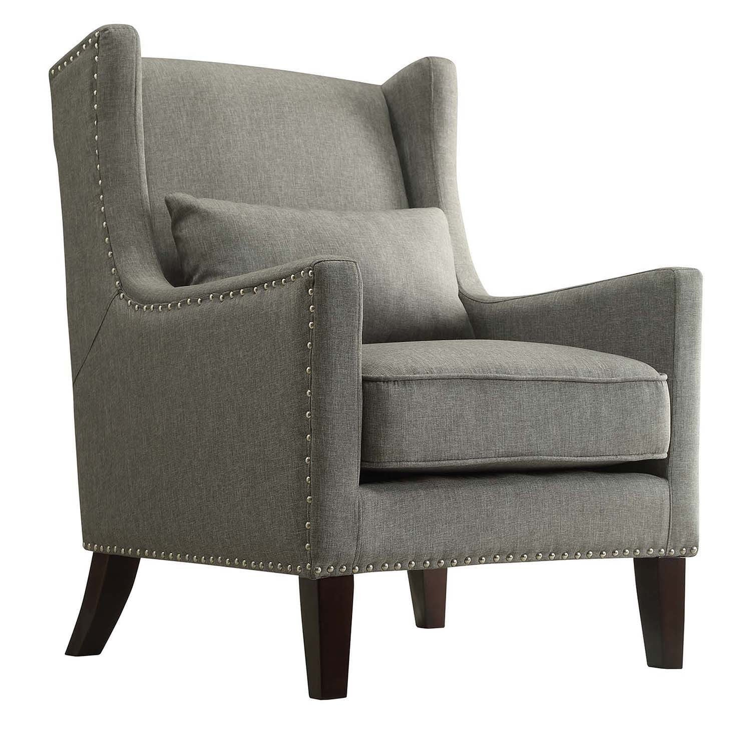 Shop Henry Wingback Nailhead Upholstered Club Chair With Pillow By INSPIRE  Q Classic   On Sale   Free Shipping Today   Overstock.com   9824666