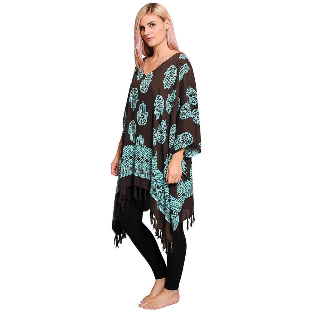 fc9f0d414d8ff Shop Handmade Women s Hamsa Pattern Beach Cover  Dress (Indonesia) - Free  Shipping On Orders Over  45 - Overstock - 9824867