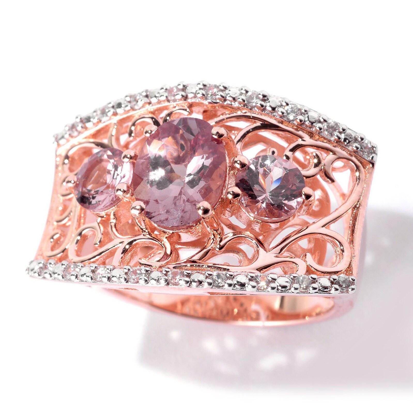 Shop Pinctore Rose Goldtone Sterling Silver Color Shift Garnet ...