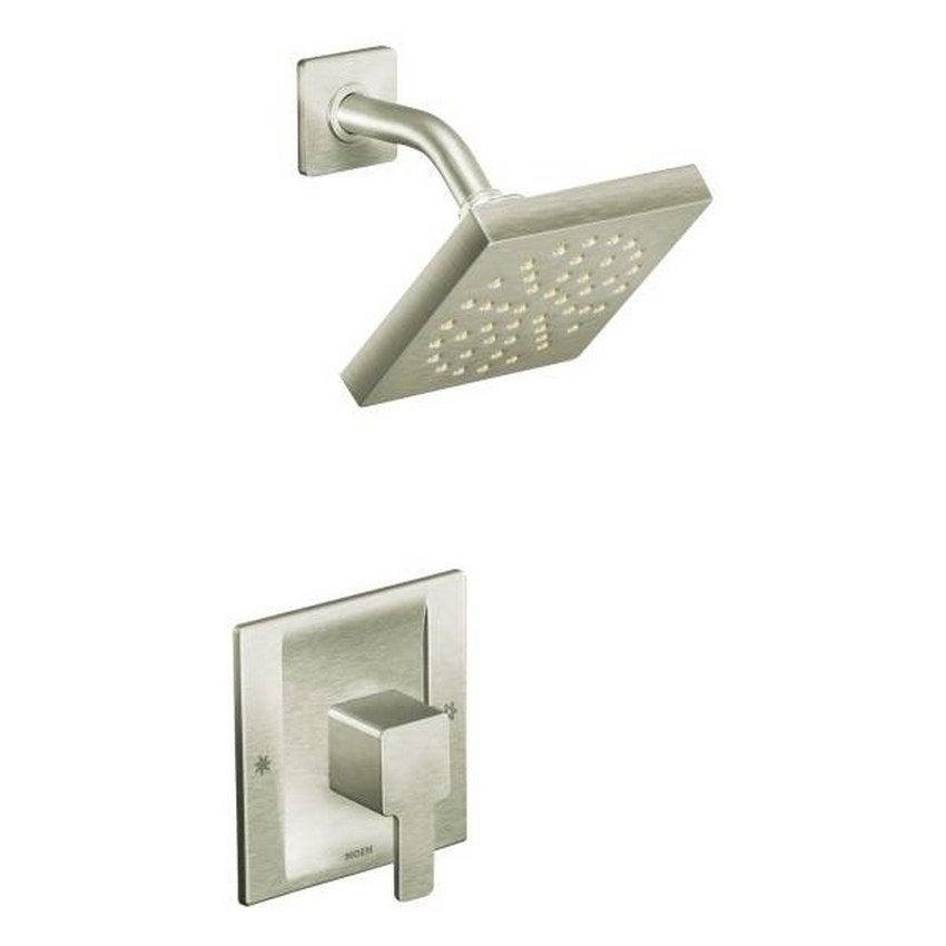Moen 90-degree Brushed Nickel PosiTemp Shower Fixture - Free ...