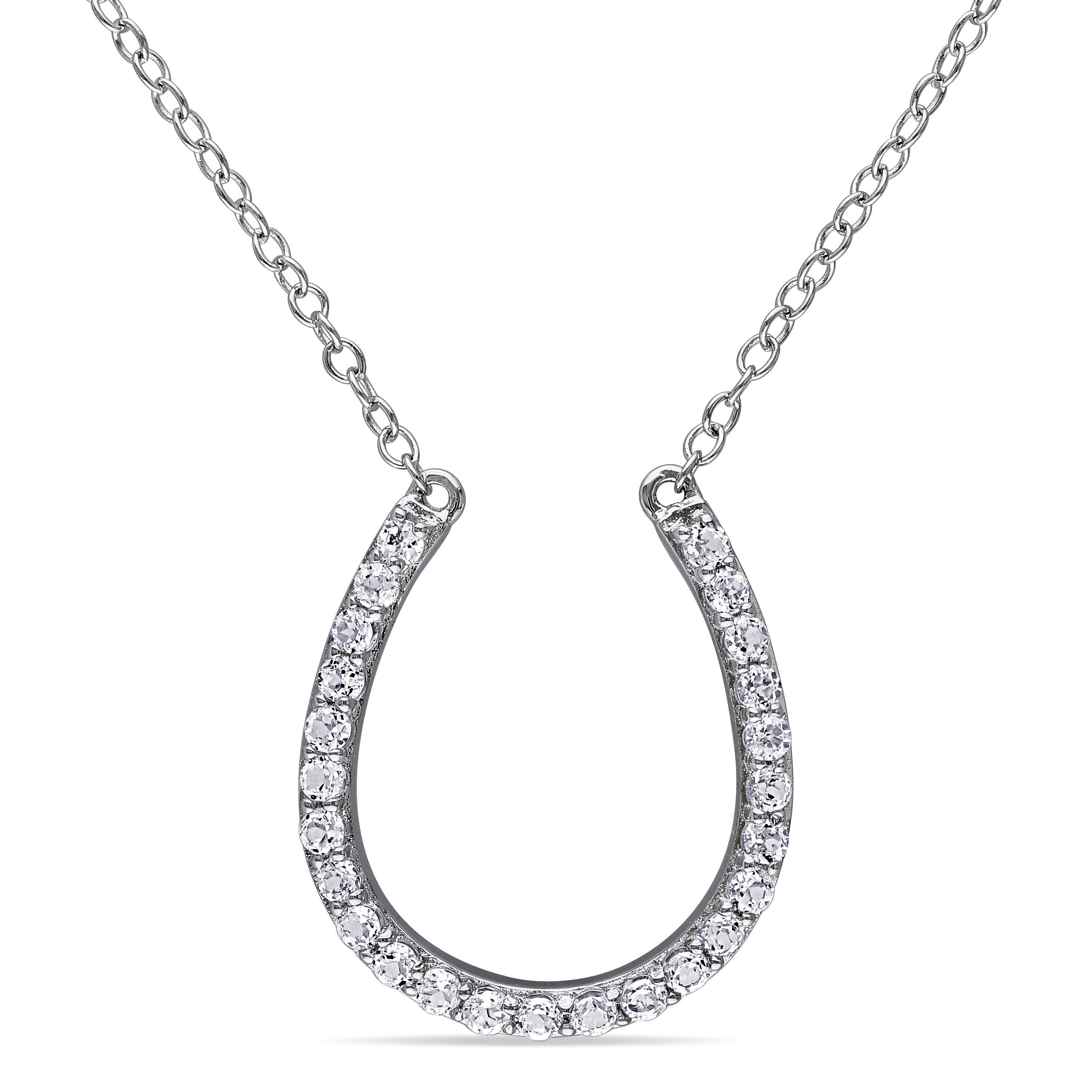 horseshoe with products white gold pendant diamonds black goldy