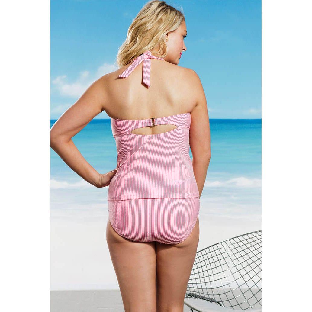 175a8f6da6e Shop Jessica Simpson Rose Seersucker Ruffle Tankini Top - Free Shipping On  Orders Over  45 - Overstock - 9827103