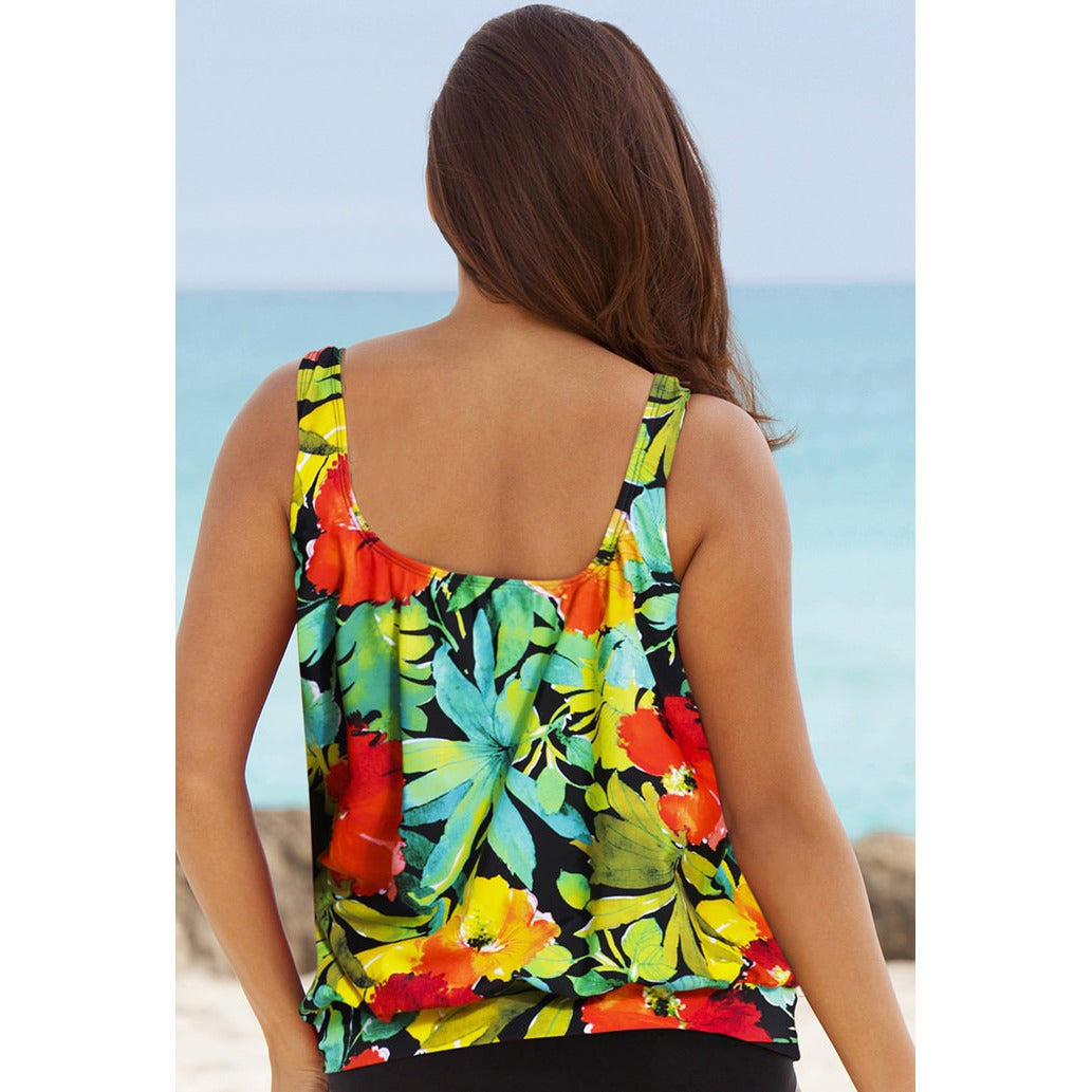 936344625b Shop Beach Belle Botany Bay Plus-size Blouson Tankini Top - Free Shipping  On Orders Over $45 - Overstock - 9827105