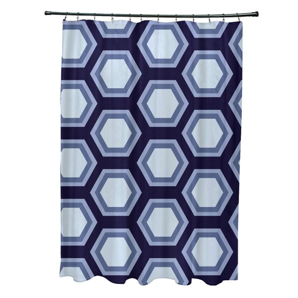 Large Honeycomb Geometric Pattern Shower Curtain