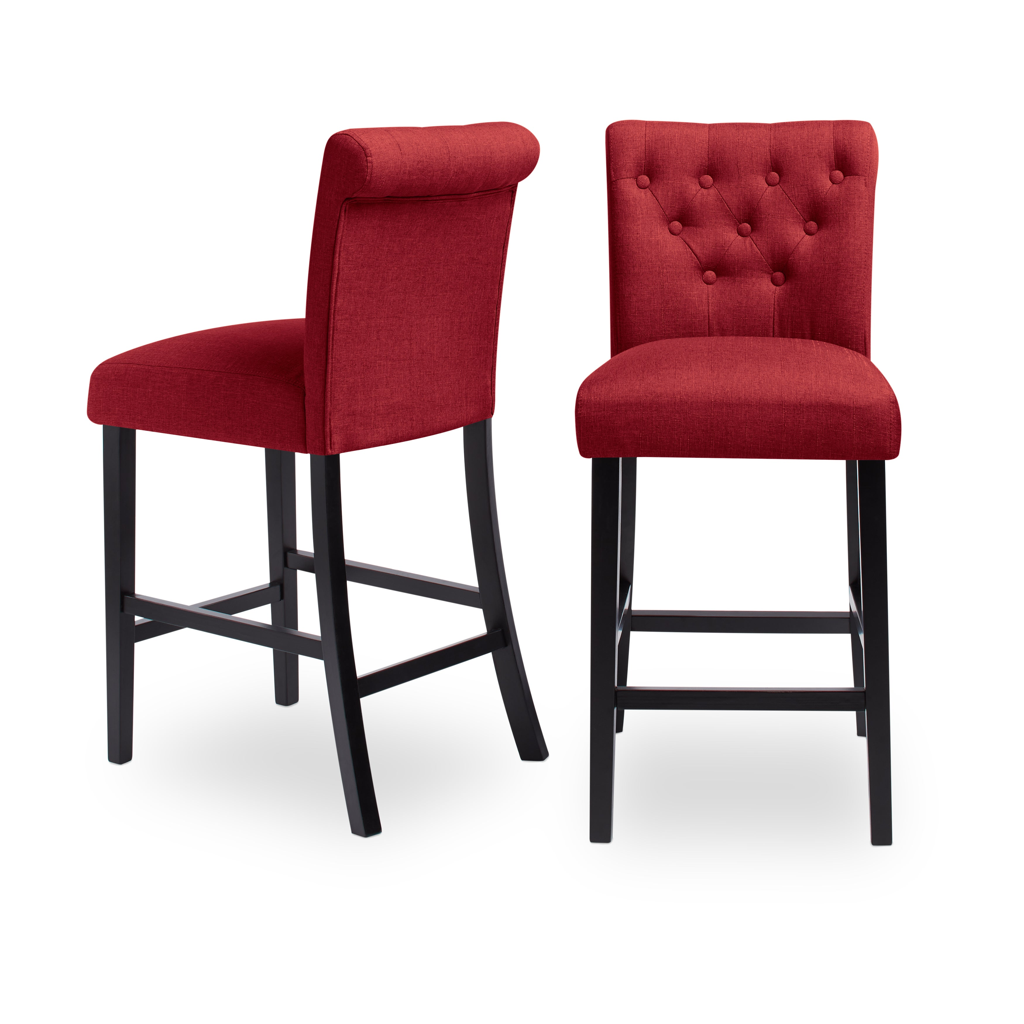 Sopri Upholstered Counter Chairs Set Of 2 On Free Shipping Today 9827854